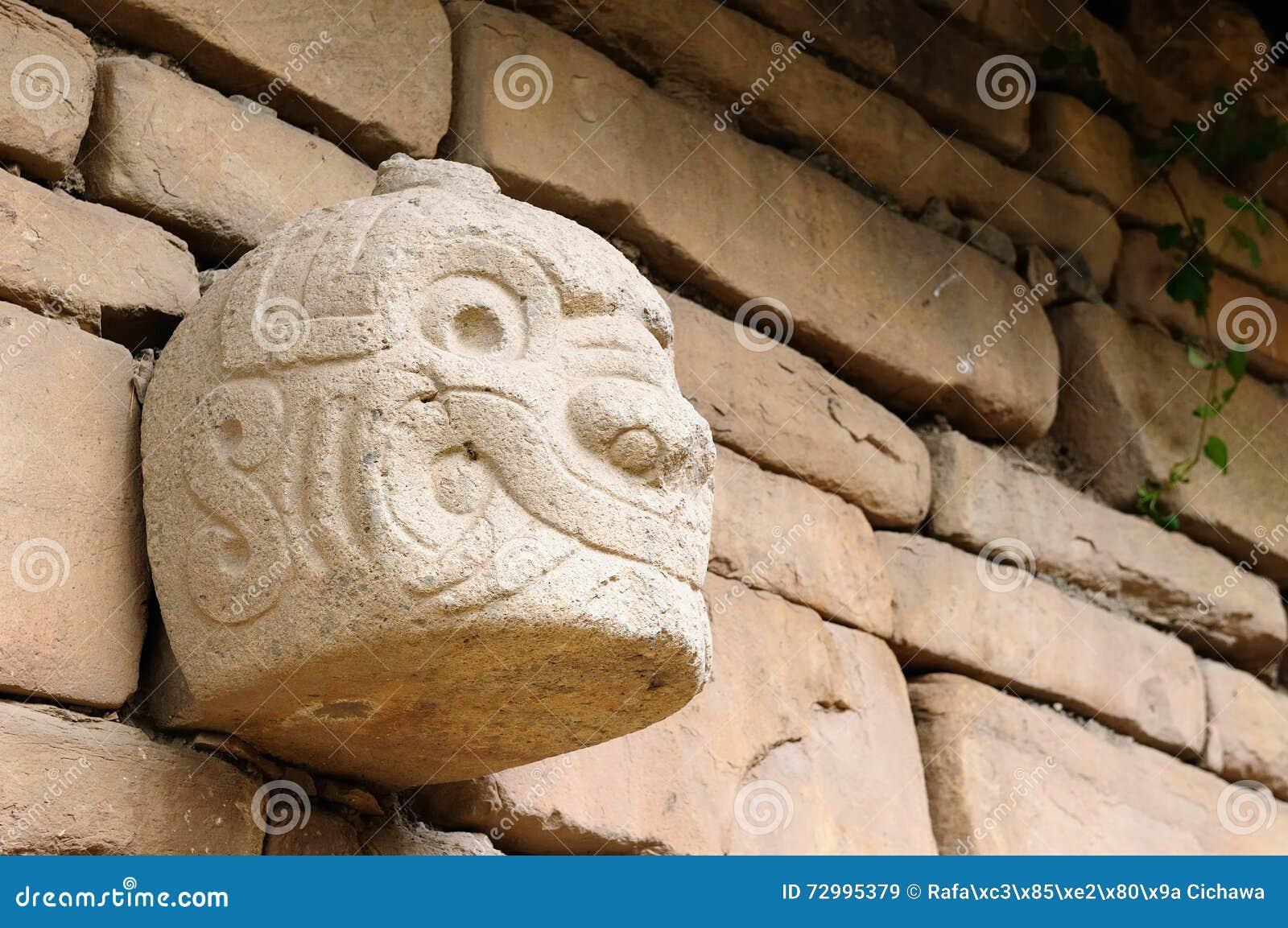 Zuid-Amerika, Peru, Ruïnes van Cultuur de van Wari (Huari), Peru