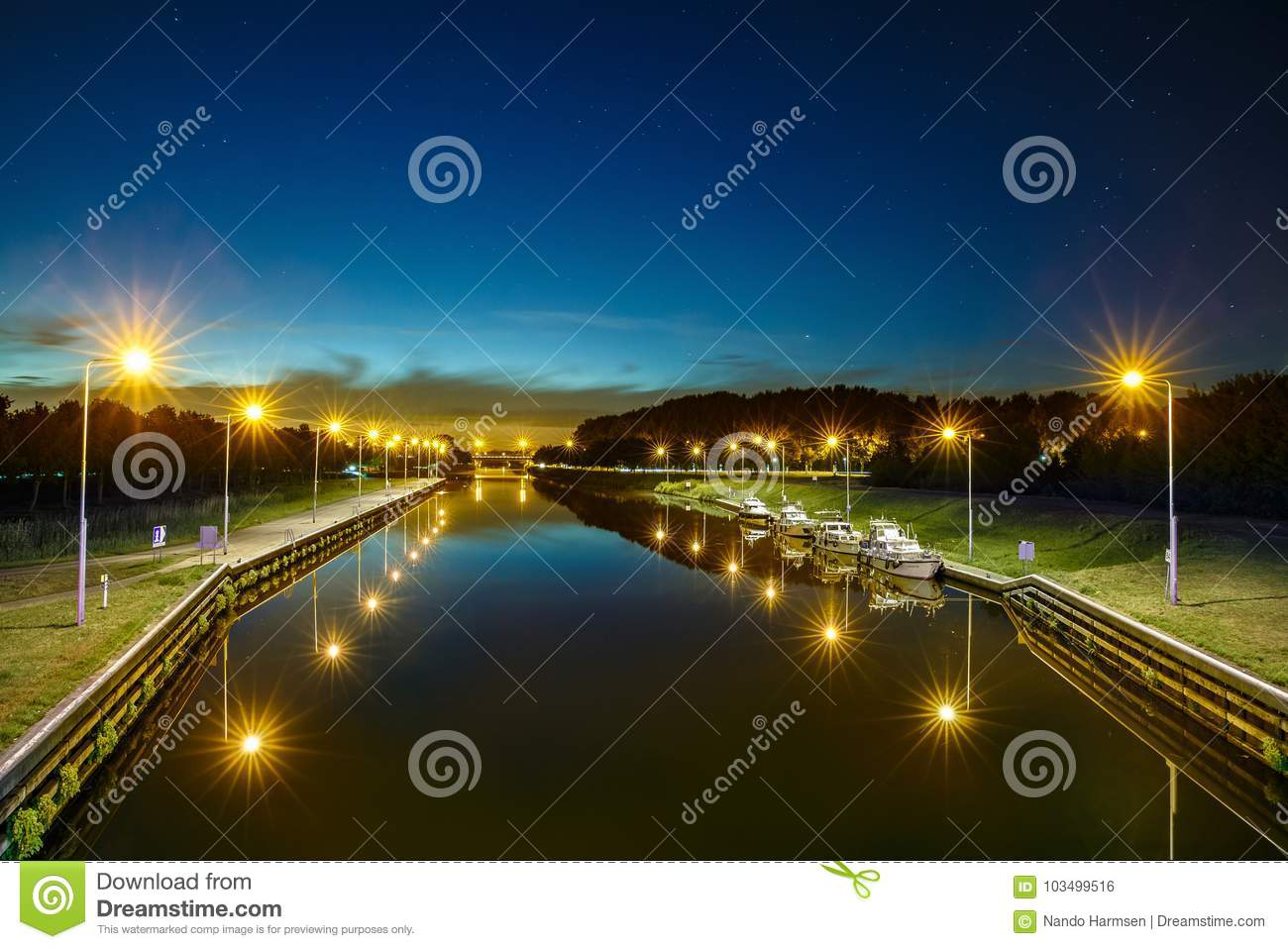 The Canal Called Zuid Willemsvaart At Helmond City Editorial Photo ...