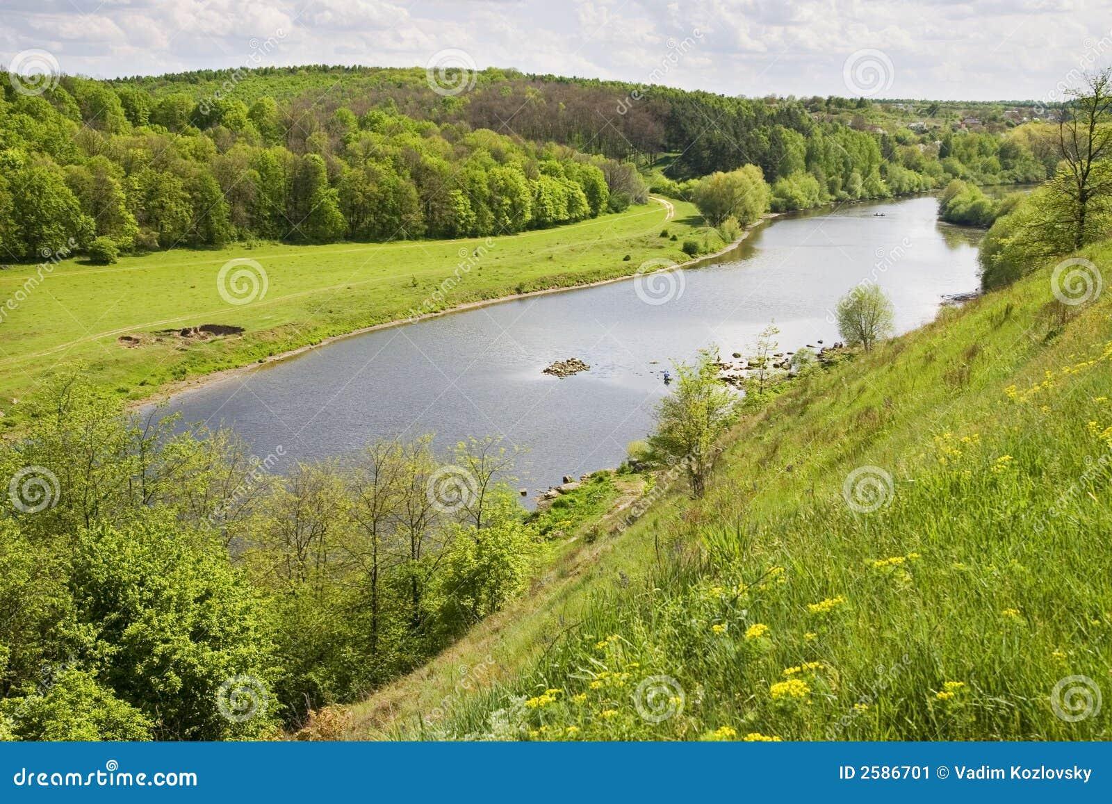 Zuidelijke Boug rivier, de Oekraïne
