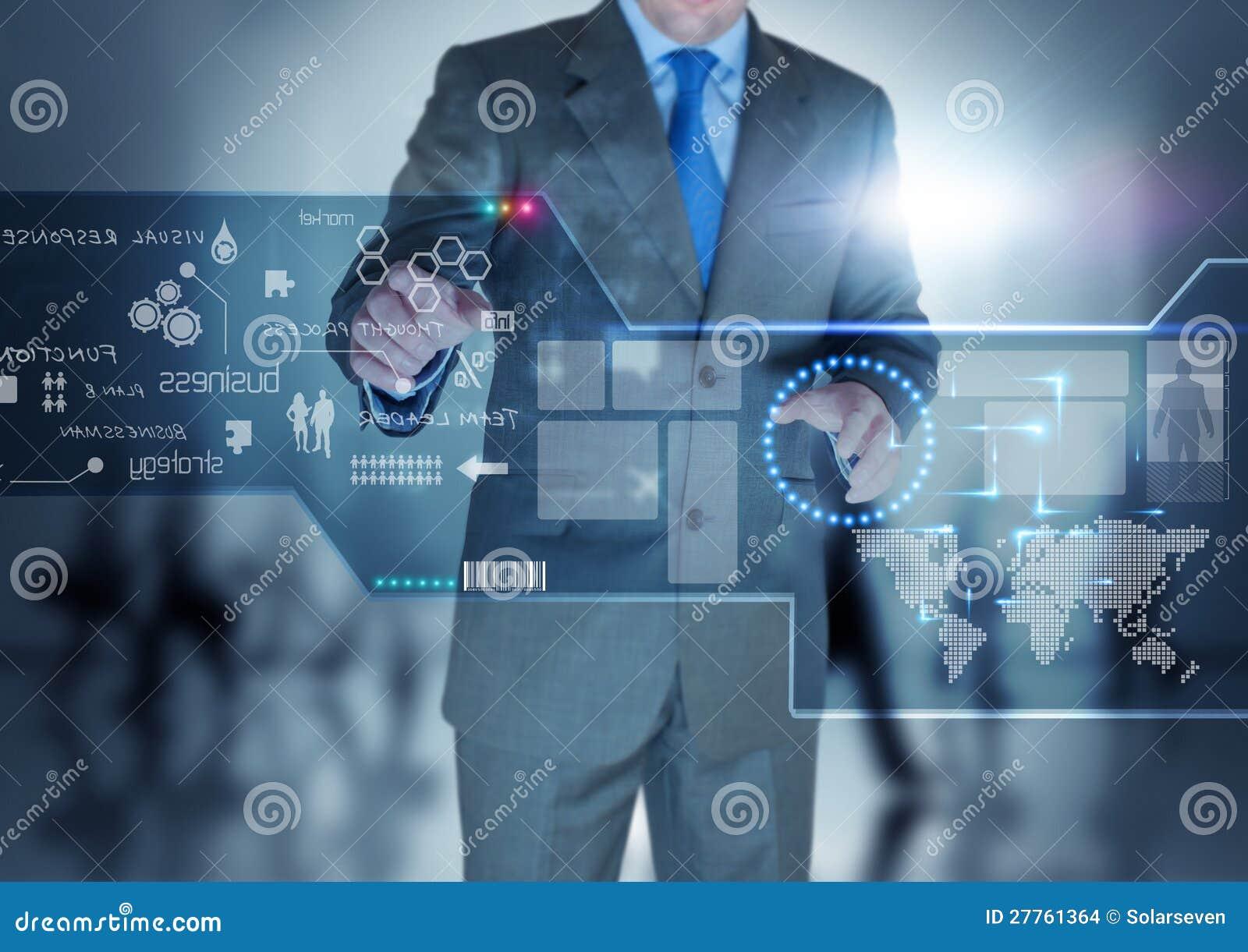 Zukünftige Technologie-Bildschirmanzeige