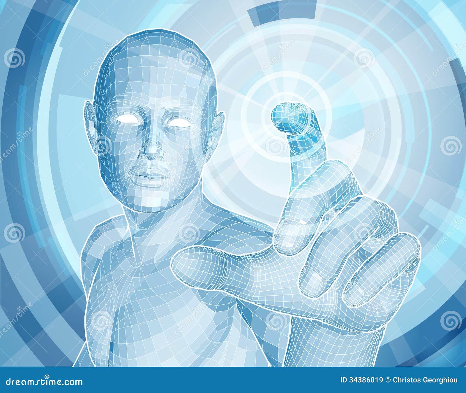 Zukünftiges APP-Konzept der Technologie 3D