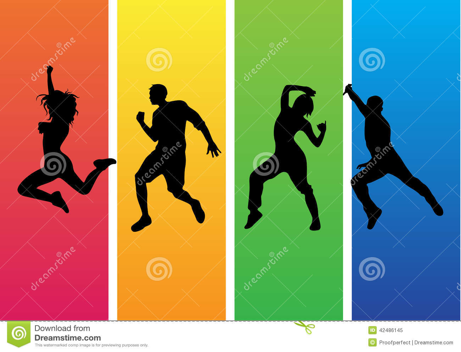 Zumba Dance Silhouette Vector Stock Vector Image 42486145