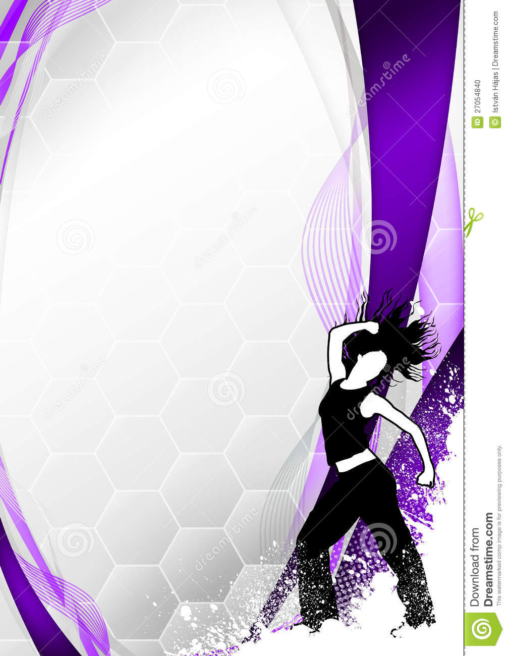 Zumba Fitness Dance Background Stock Photo Image 27054840