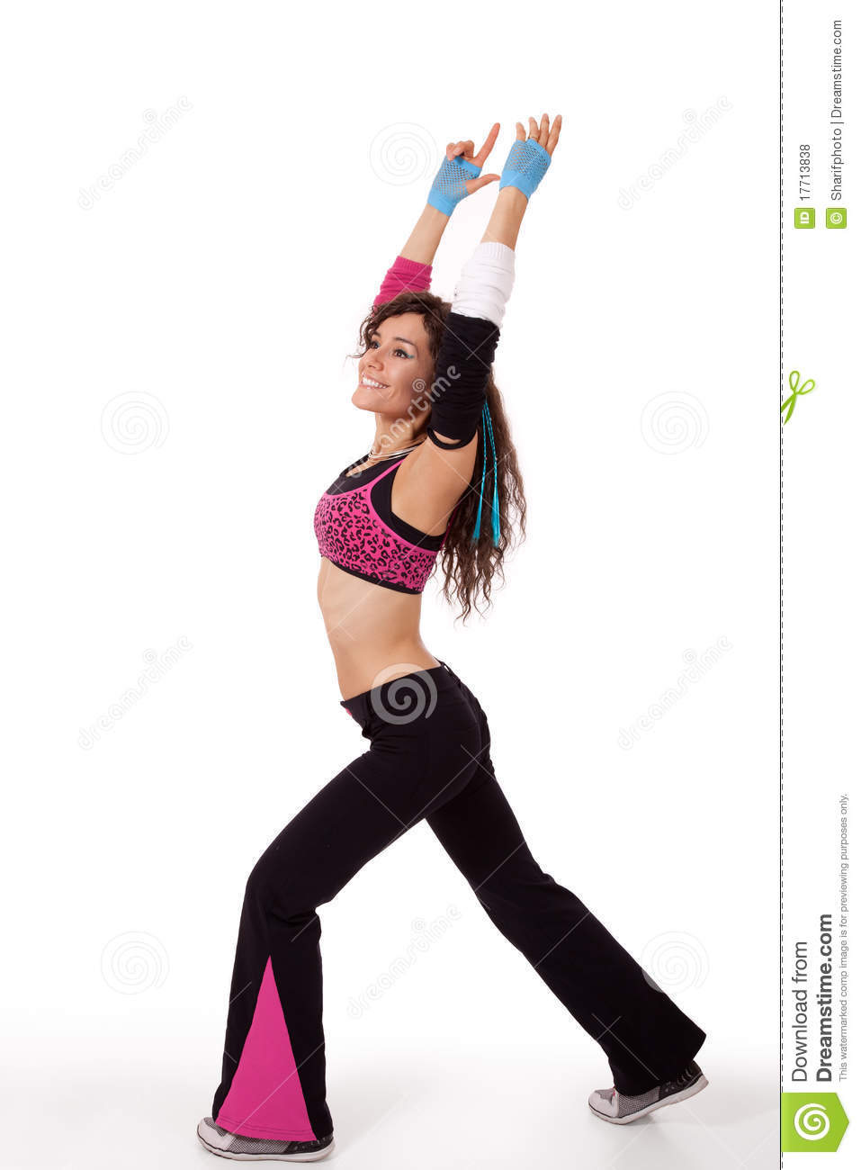 Zumba Instructor In Stretch Pose Royalty Free Stock Photos - Image ...