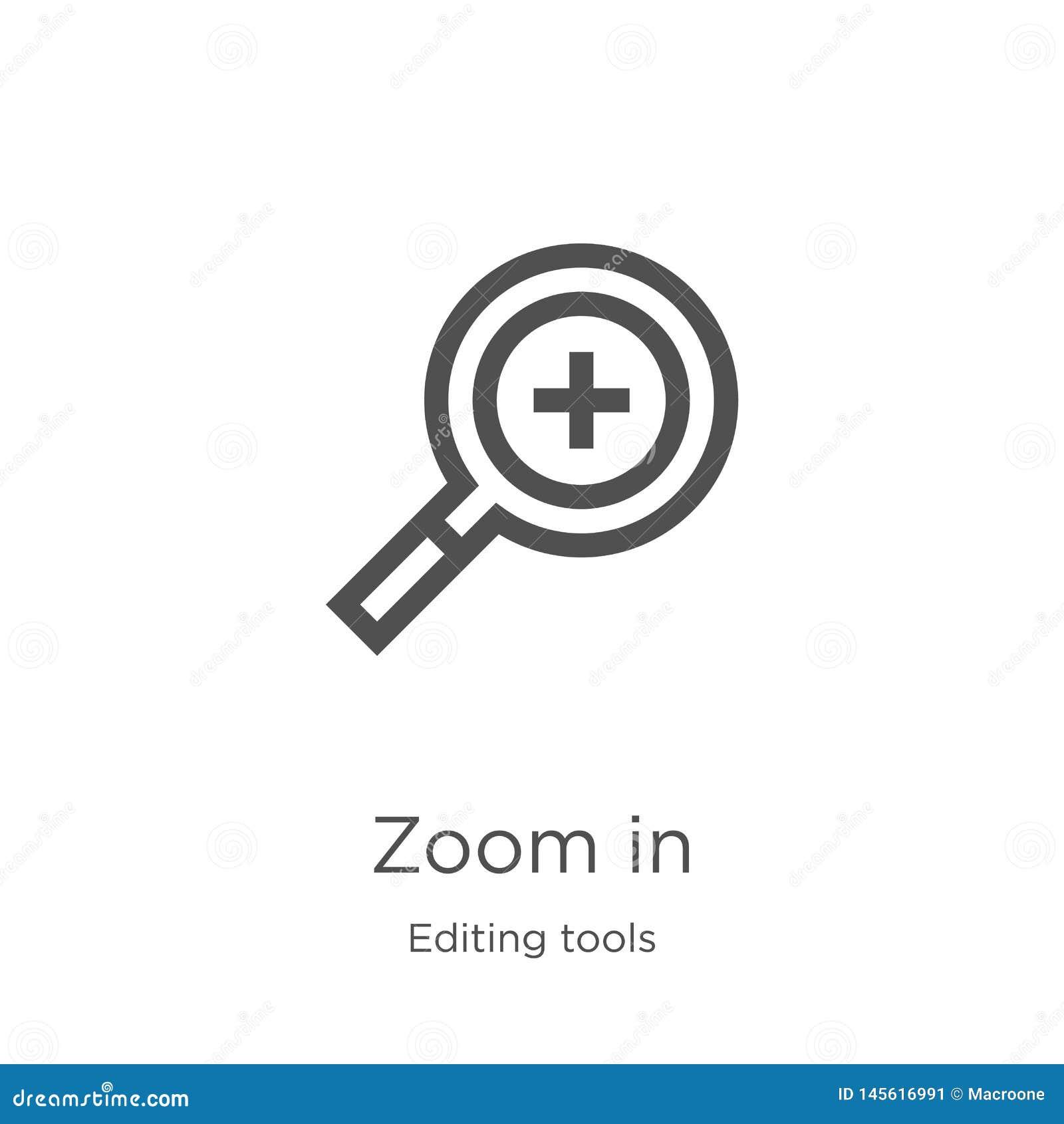 Zumbe dentro o vetor do ícone de editar a coleção das ferramentas A linha fina zumbe dentro ilustração do vetor do ícone do esboç