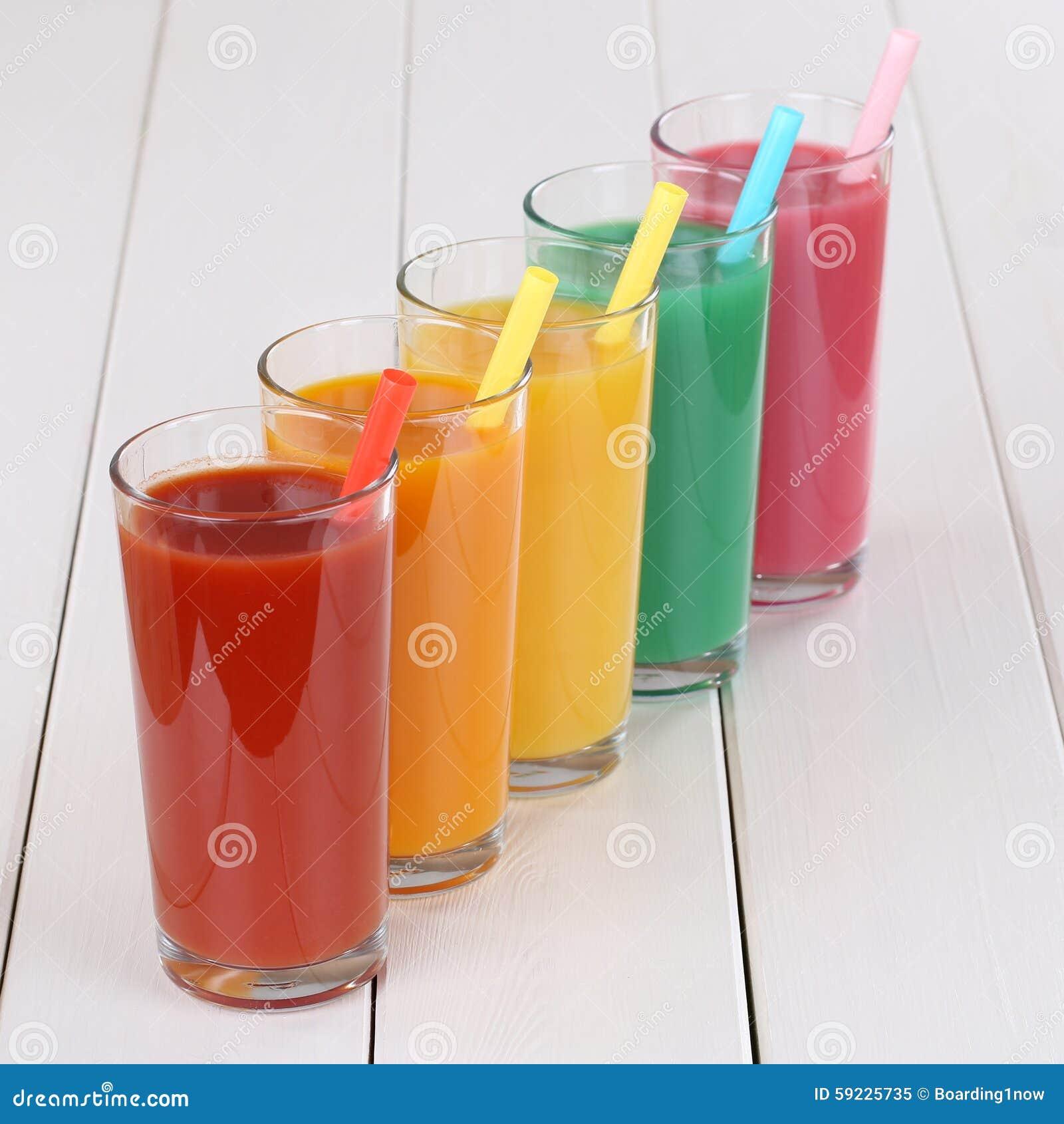 Download Zumo De Naranja Colorido De La Fruta De Los Smoothies Imagen de archivo - Imagen de jugo, cristal: 59225735