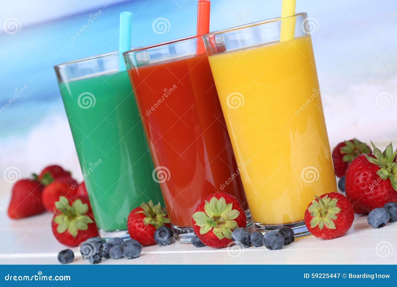 Download Zumo De Naranja De La Fruta Del Smoothie Con Las Frutas Imagen de archivo - Imagen de vacaciones, cristal: 59225447