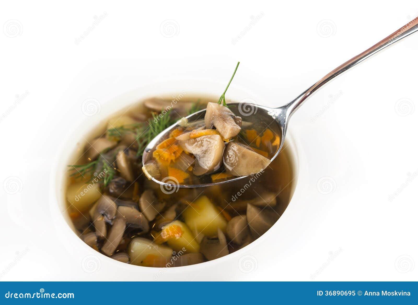 Download Zuppa di fungo immagine stock. Immagine di pranzo, colore - 36890695