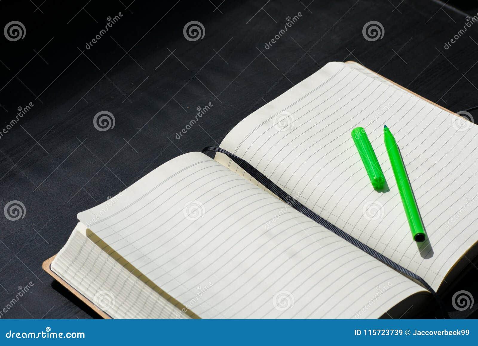 Zurück zu Schule-Noteblock-Notizbuch-Grün-Markierung merkt Farbe Sommer
