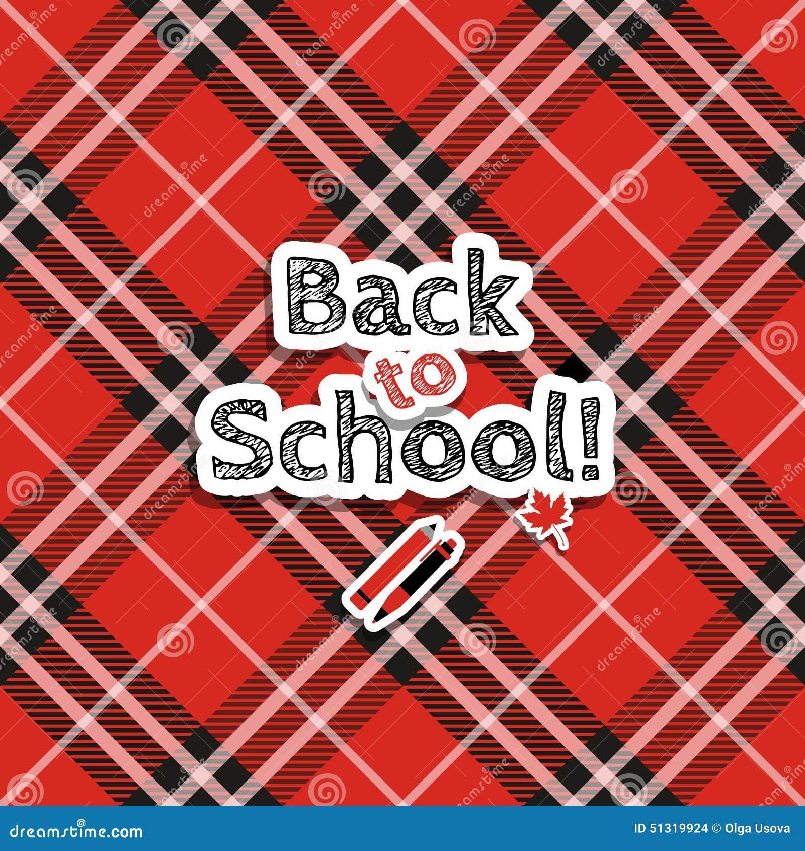 Zurück zu Schule! Vektor-Illustration