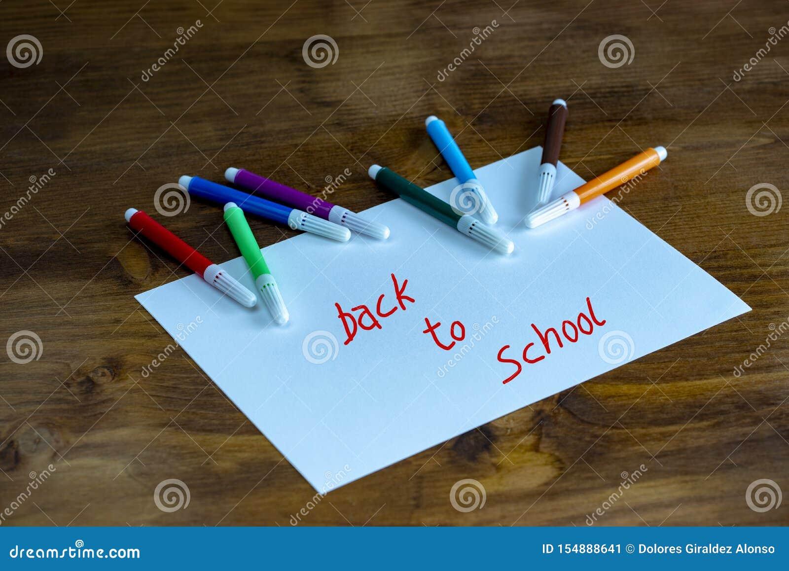Zur?ck zu Schule-Konzept