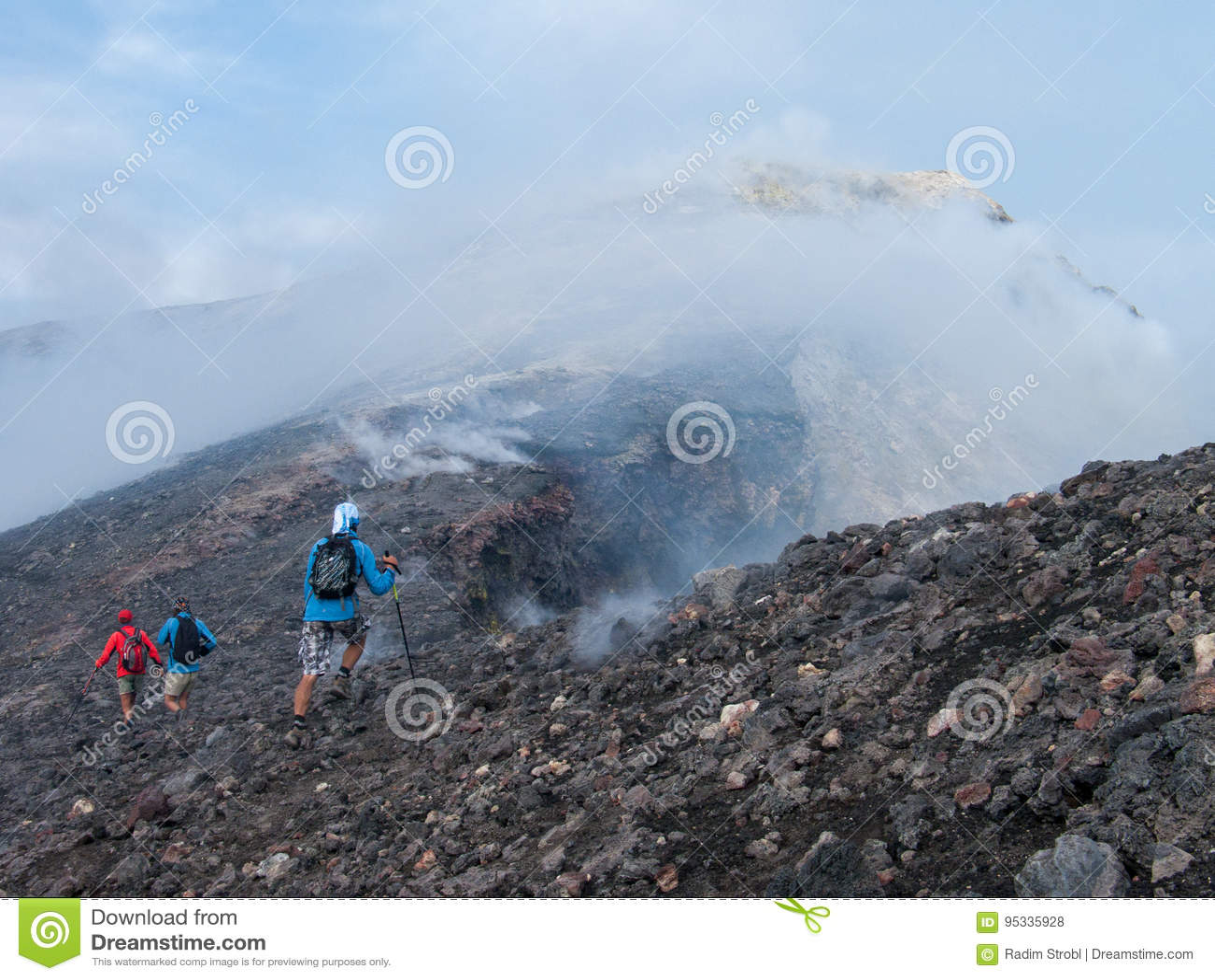 Zur Spitze des Ätna-Vulkans