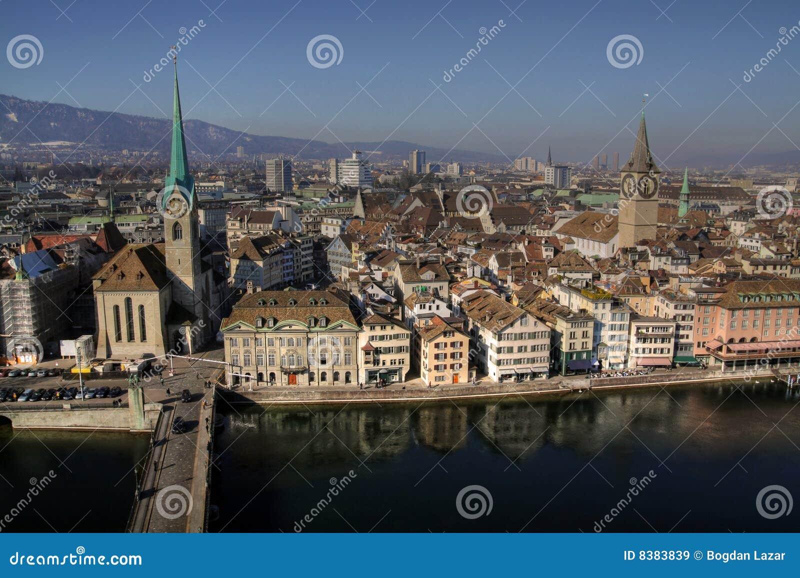 Zurich aerial 01, Switzerland