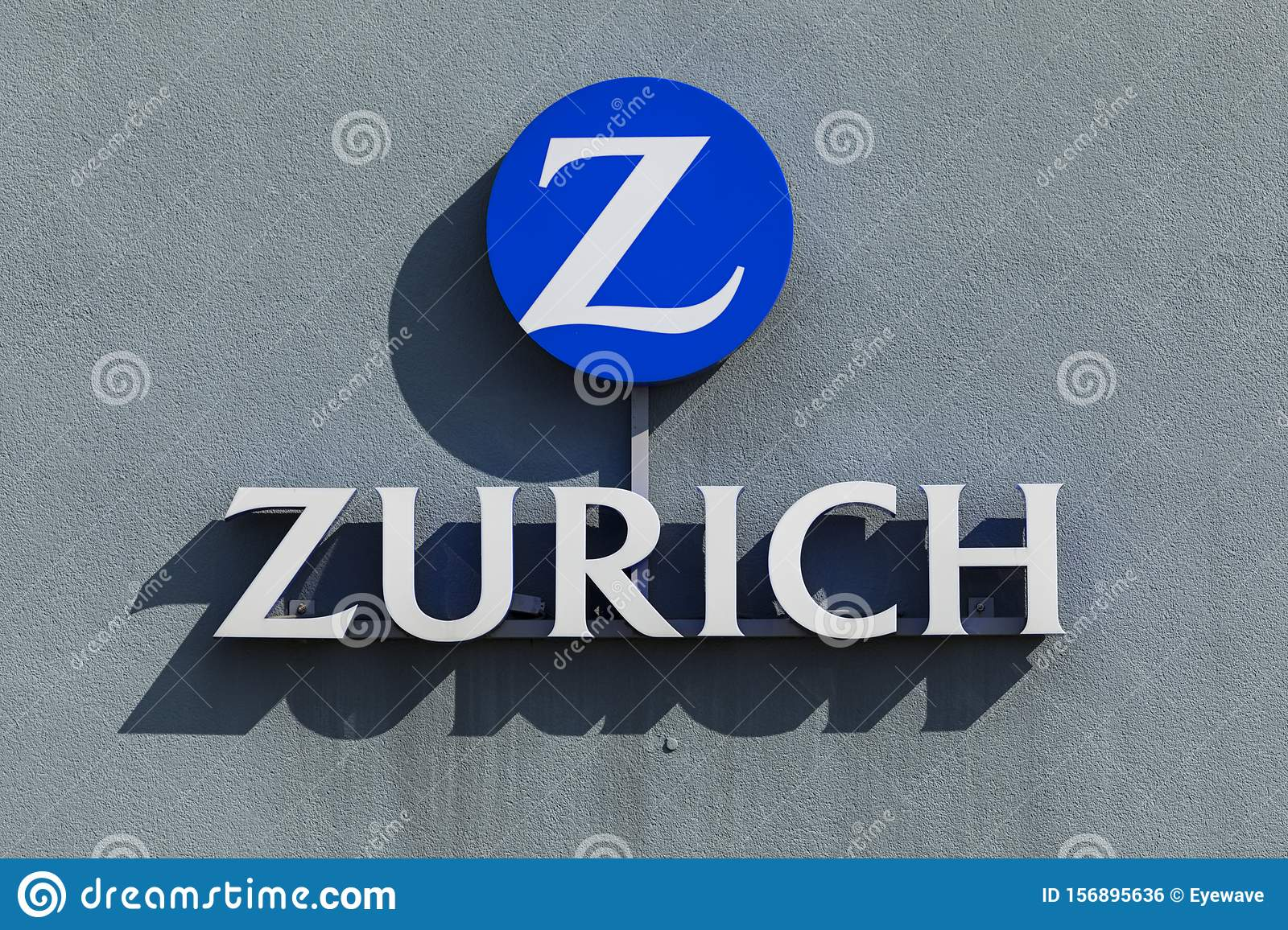 Zurich Insurance Company Logo At Wall Editorial Photo Image Of