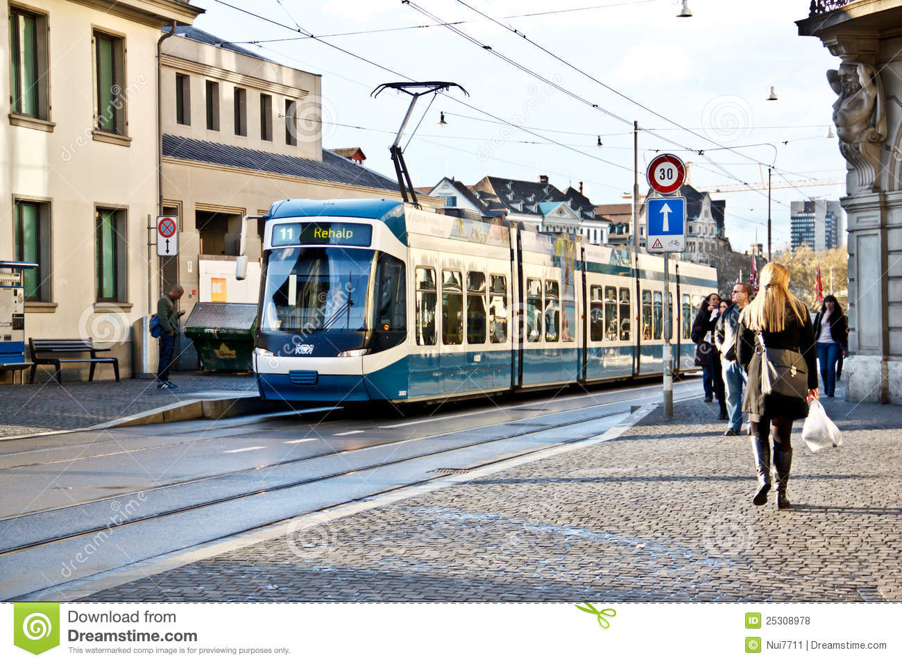 Zurich Tram 2 Editorial Stock Photo Image 25308978