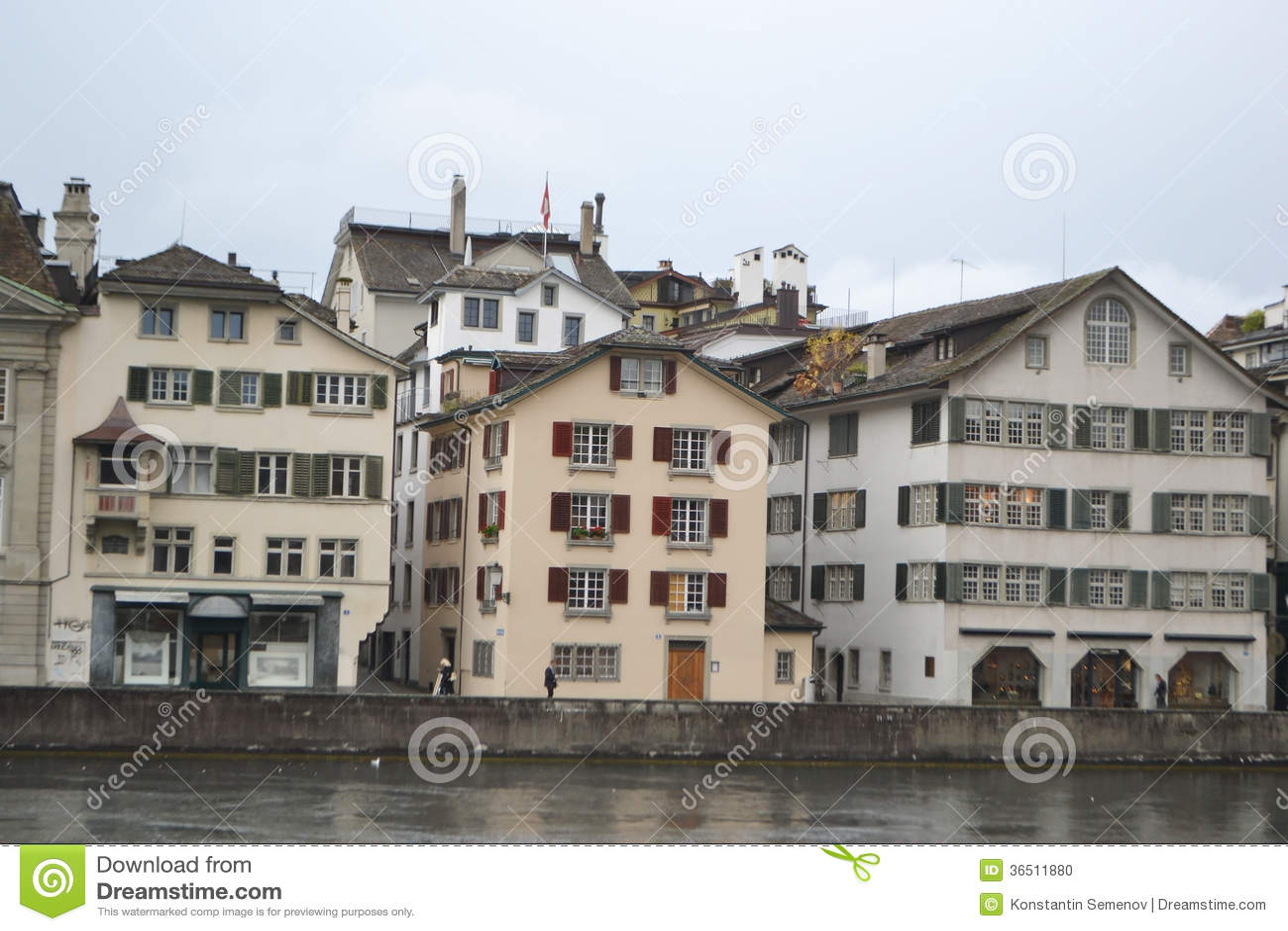 Zurich un jour nuageux