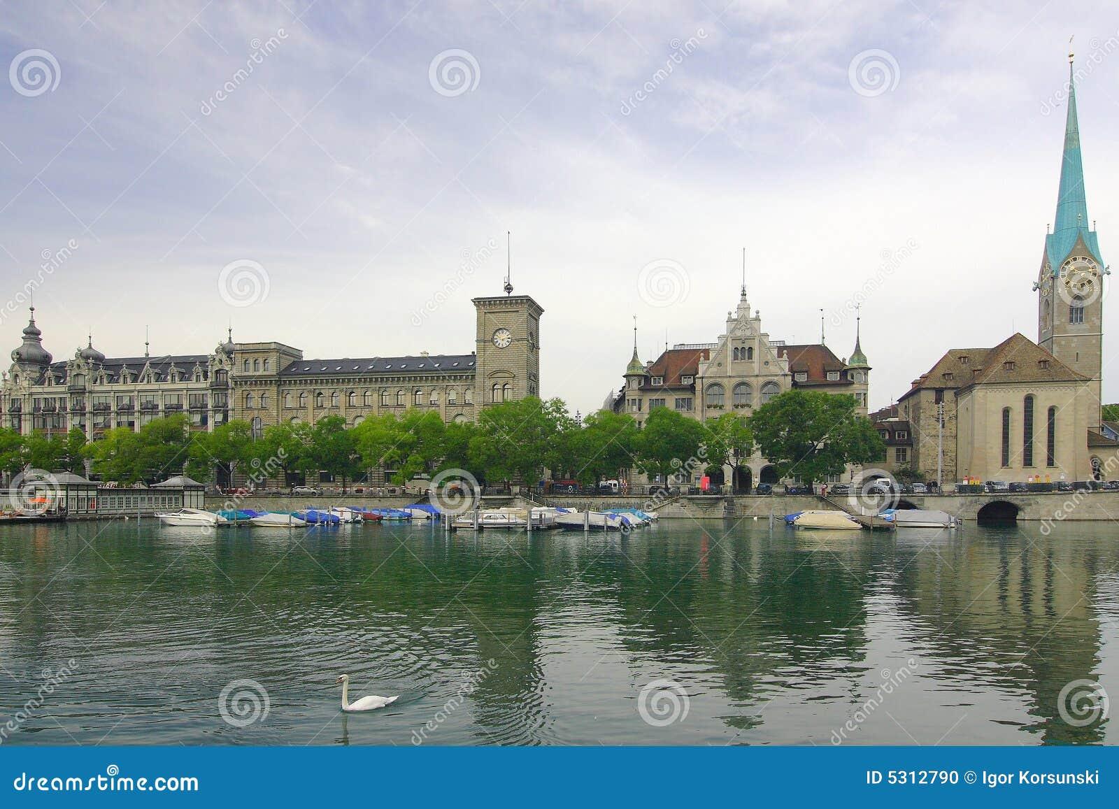 Download Zurigo fotografia stock. Immagine di chiesa, felix, vecchio - 5312790