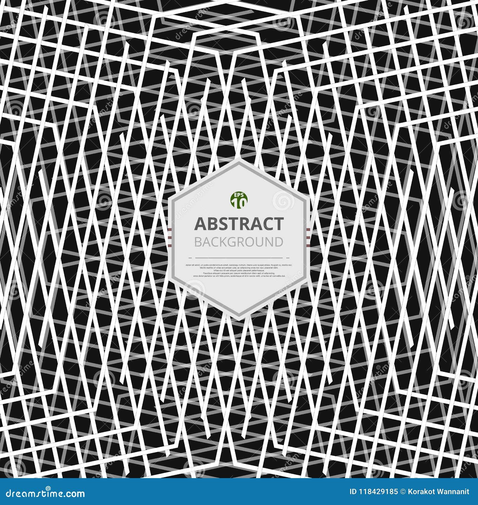 Zusammenfassung Des Weißen Streifens Zeichnet Muster Auf Schwarzem