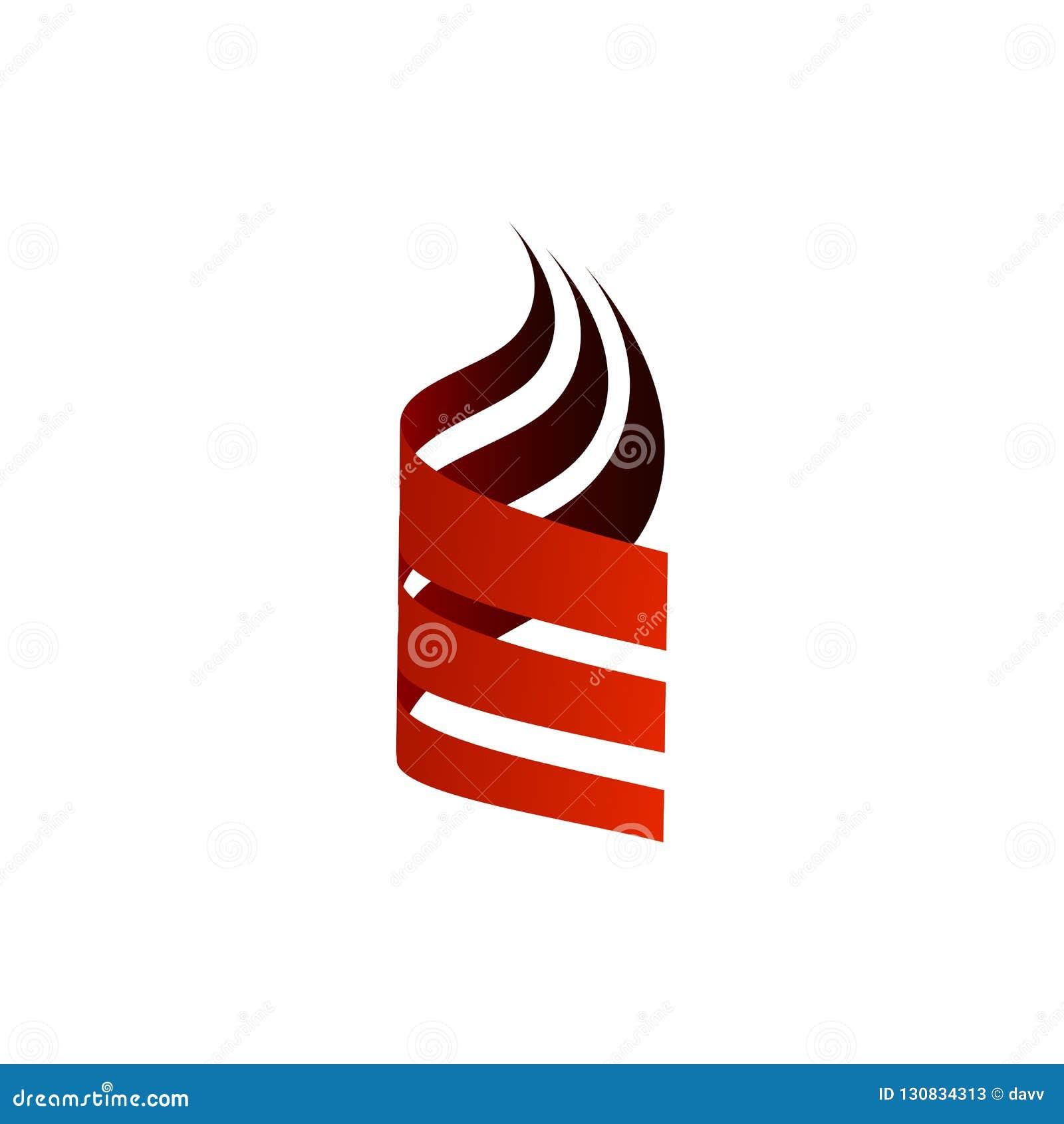 Zusammenfassung drei Logo-Vektorillustration Swoosh einzigartige einfache