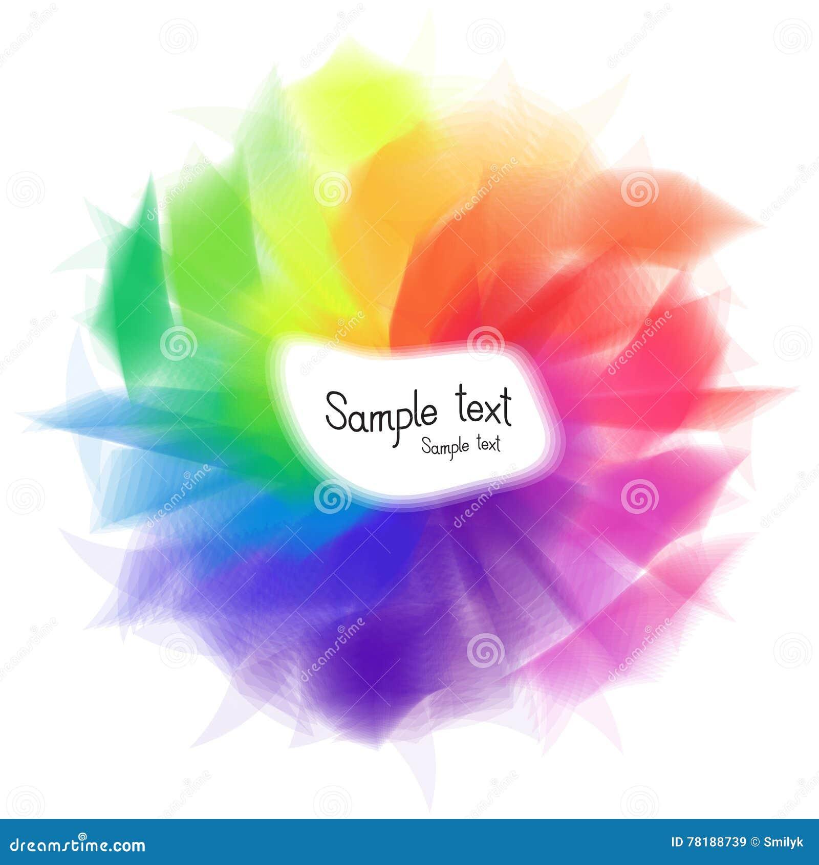 Zusammenfassung Farbige Regenbogen-Text-Schablone Vektor Abbildung ...