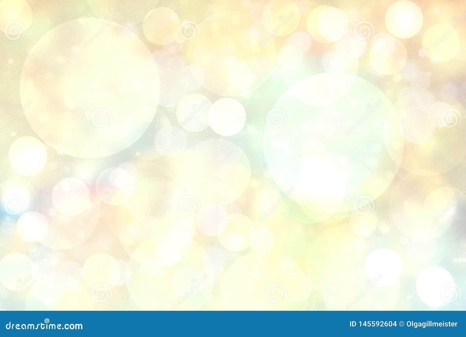 Zusammenfassung unscharfe klarer Frühlingssommer helle empfindliche gelbe bokeh Hintergrundpastellbeschaffenheit mit hellen weich