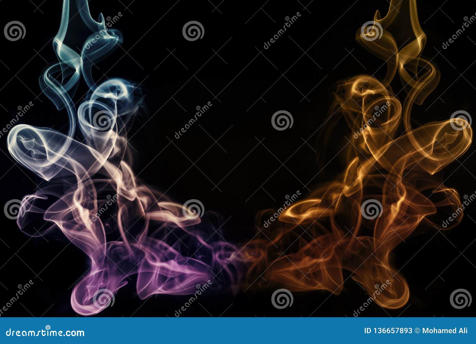 Zusammenfassungs-künstlerisches buntes Weiche und glatter Rauch-Effekt-Hintergrund