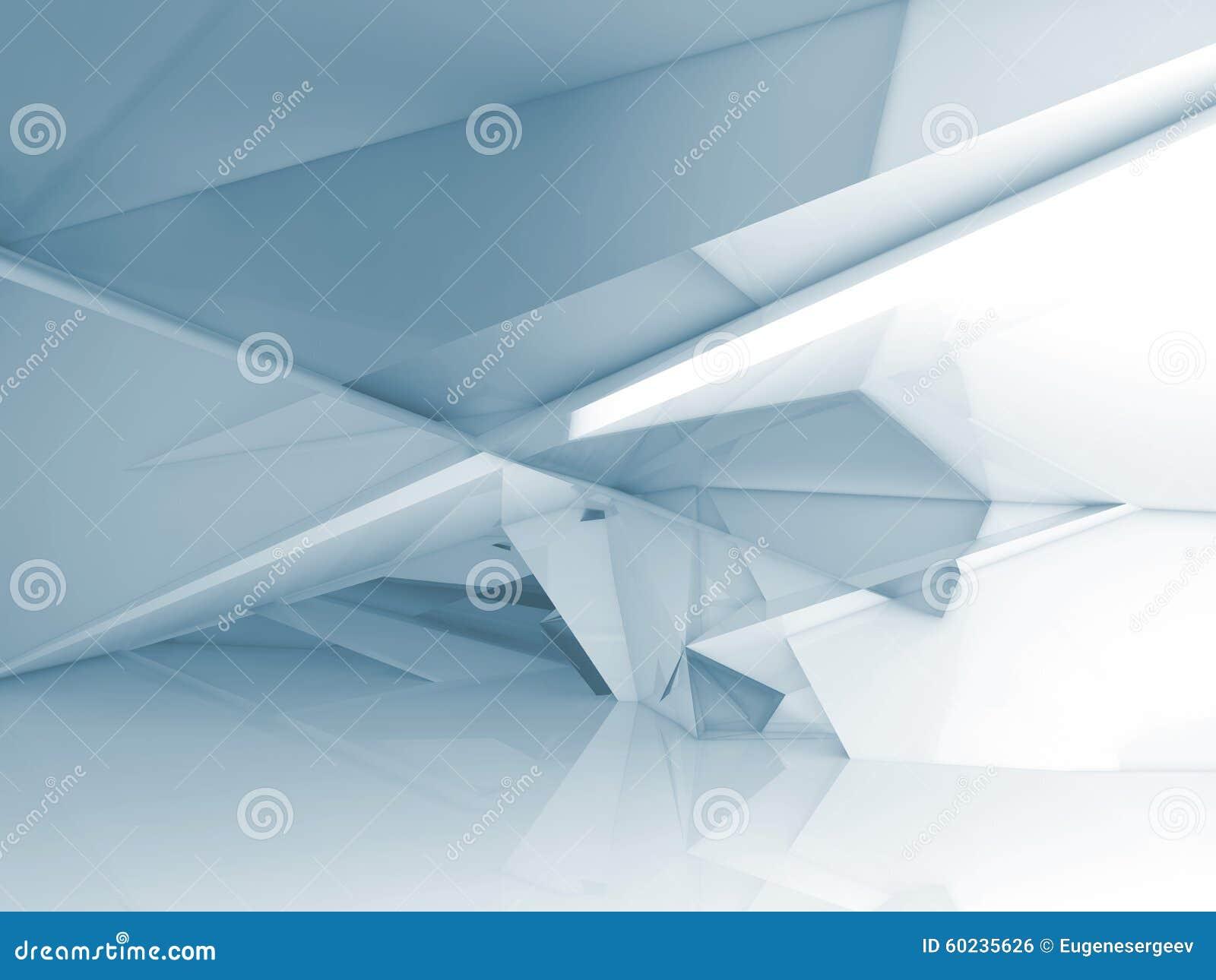 Zusammenfassungsinnenraum mit chaotischer polygonaler Struktur