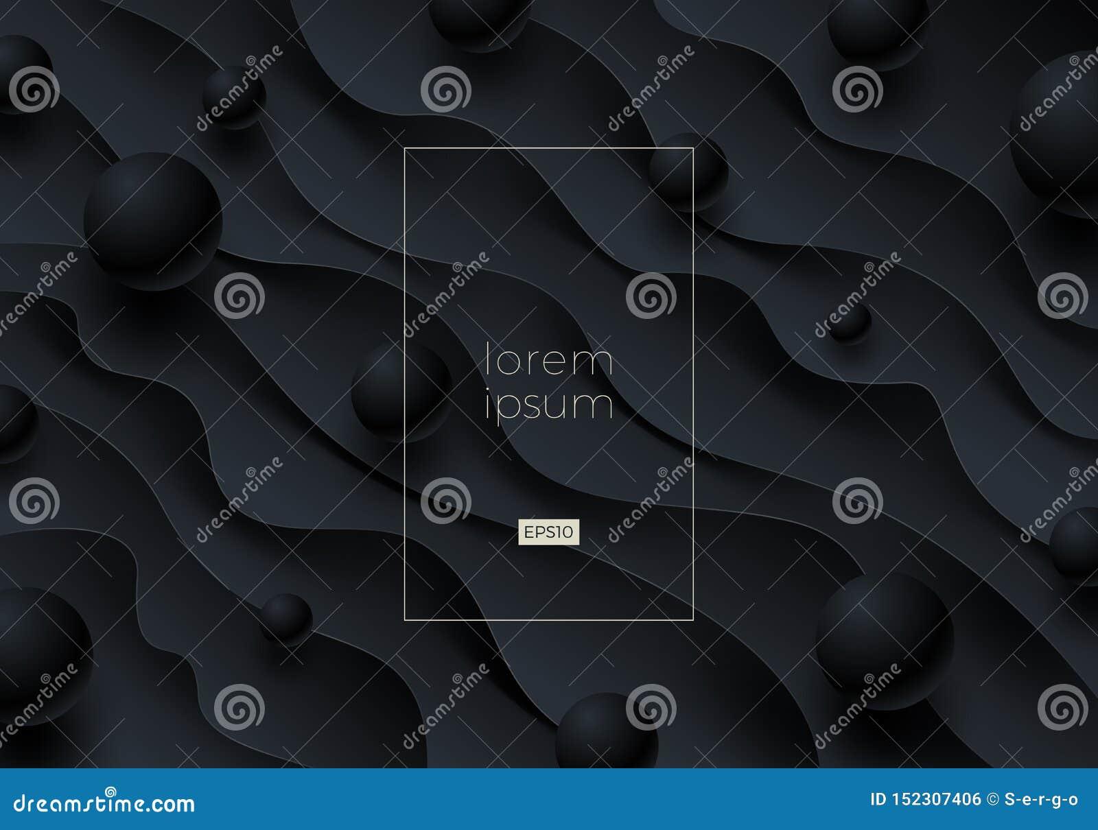 Zusammenfassungsvektorschwarzhintergrund mit Kopienraum