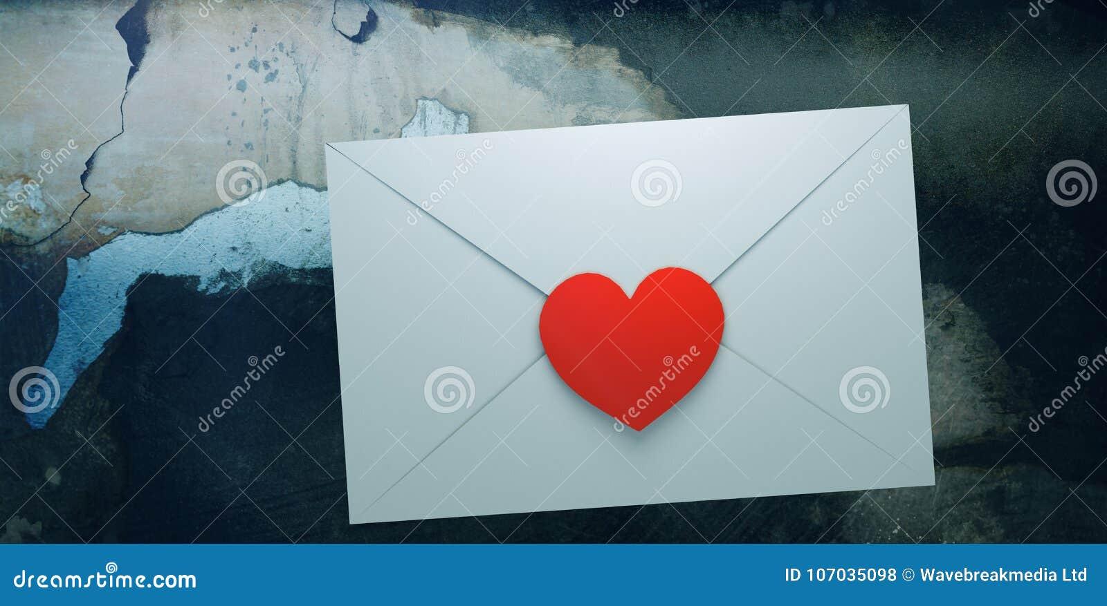 Zusammengesetztes Bild des Liebesbriefs