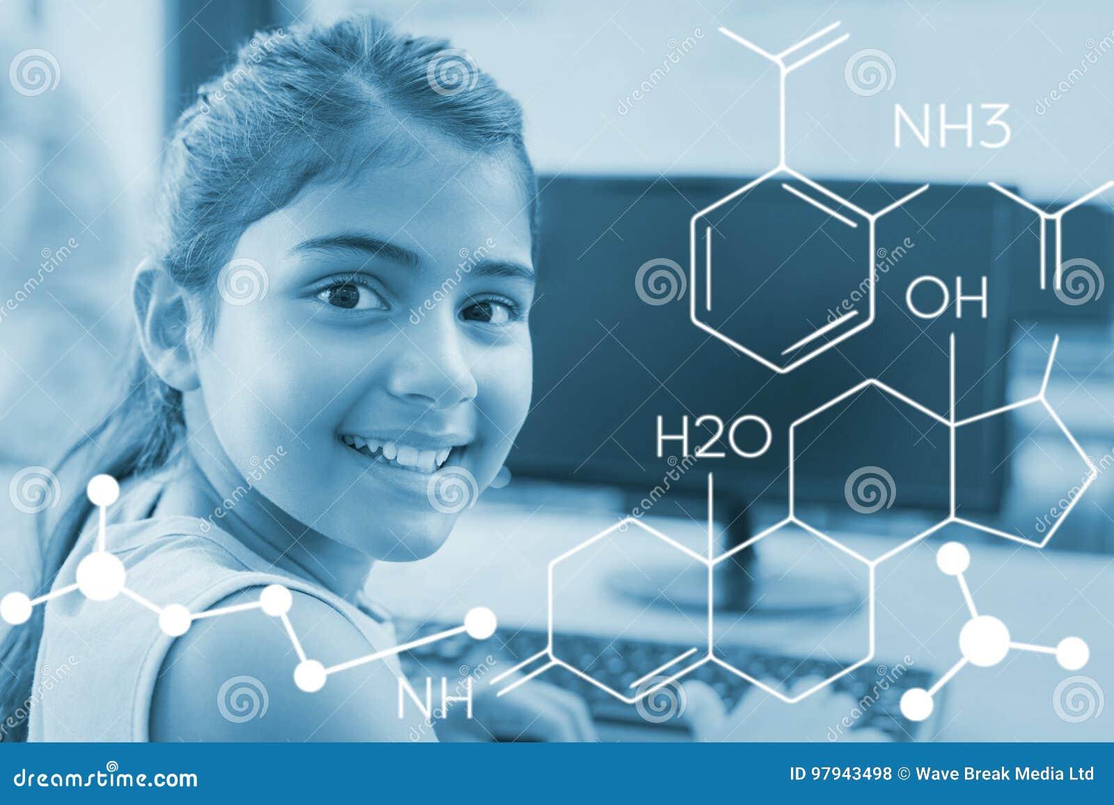 Zusammengesetztes Bild des zusammengesetzten Bildes der chemischen Struktur