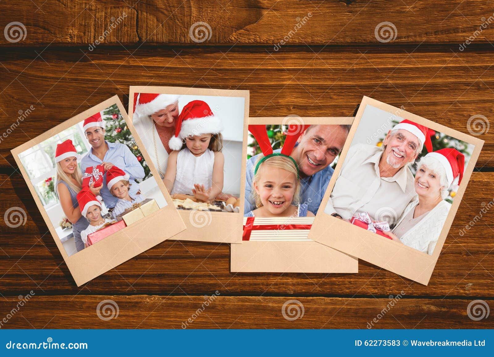 Zusammengesetztes Bild Von Den Lächelnden Alten Paaren, Die ...