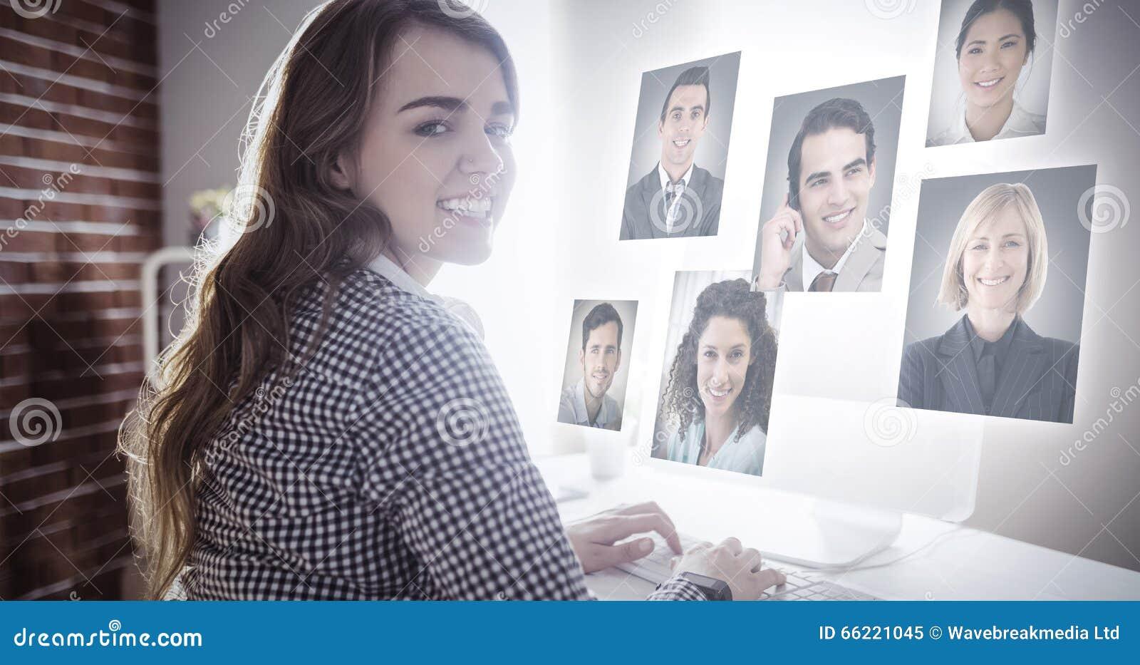 Zusammengesetztes Bild von Profilbildern