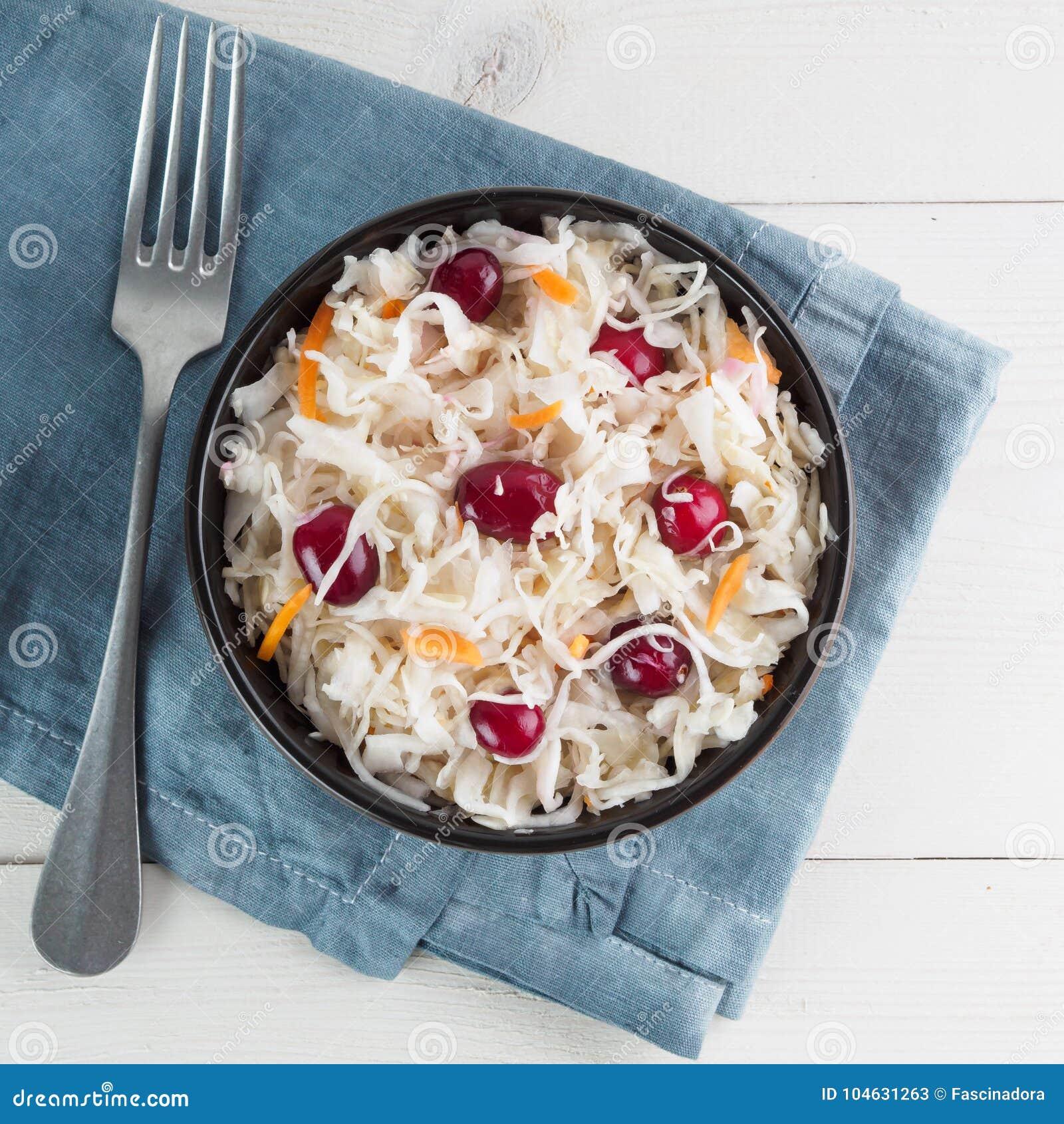 Download Zuurkool Met Amerikaanse Veenbes En Wortel Stock Afbeelding - Afbeelding bestaande uit cuisine, kool: 104631263