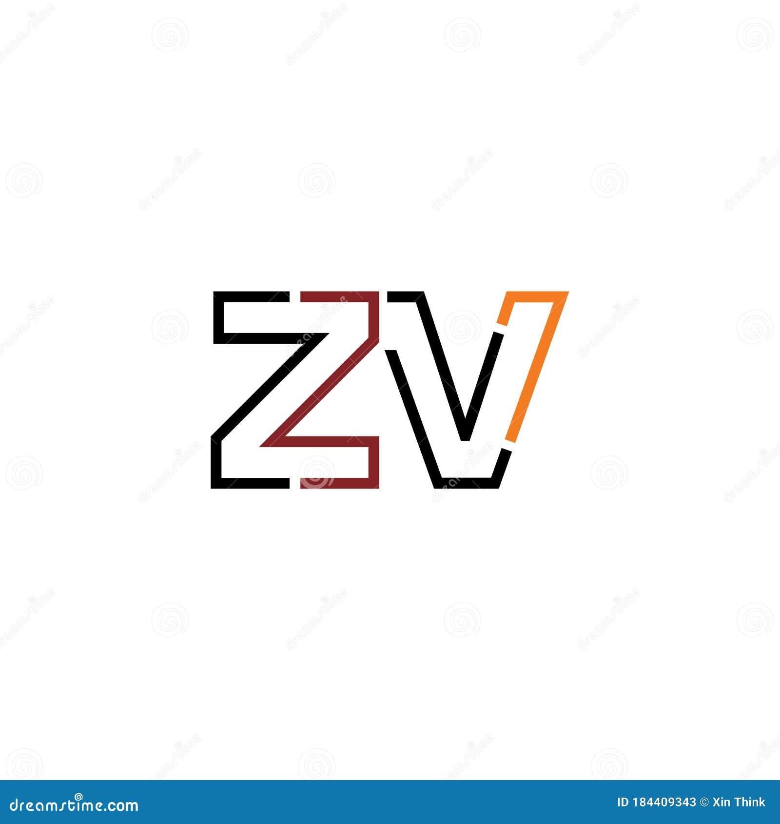 Zv Letter Logo Icon Design Template Elements Stock Vector Illustration Of Illustration Corporate 184409343