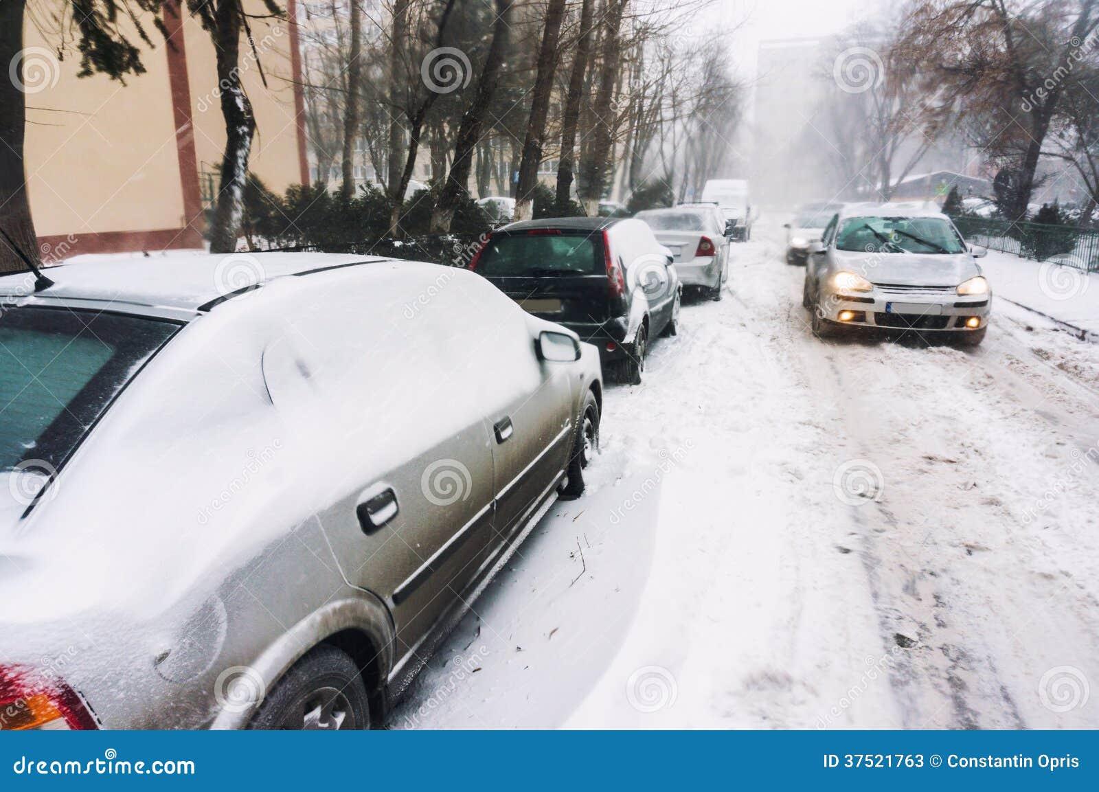 Zwaar verkeer tijdens de winter