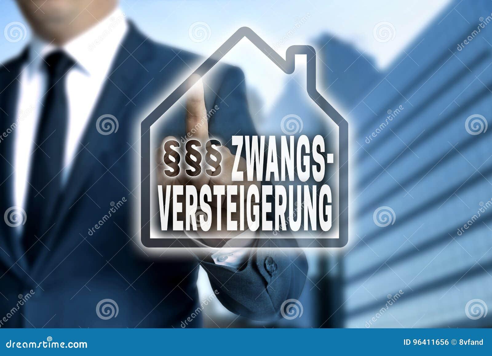 Zwangsversteigerung & x28; no foreclosure& alemão x29; o écran sensível é ópera