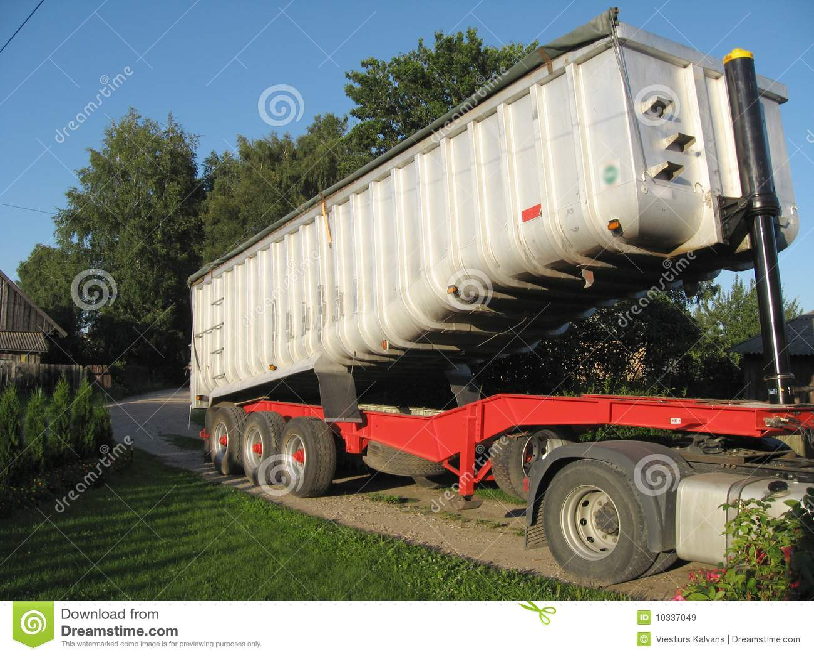Zware vrachtaanhangwagen
