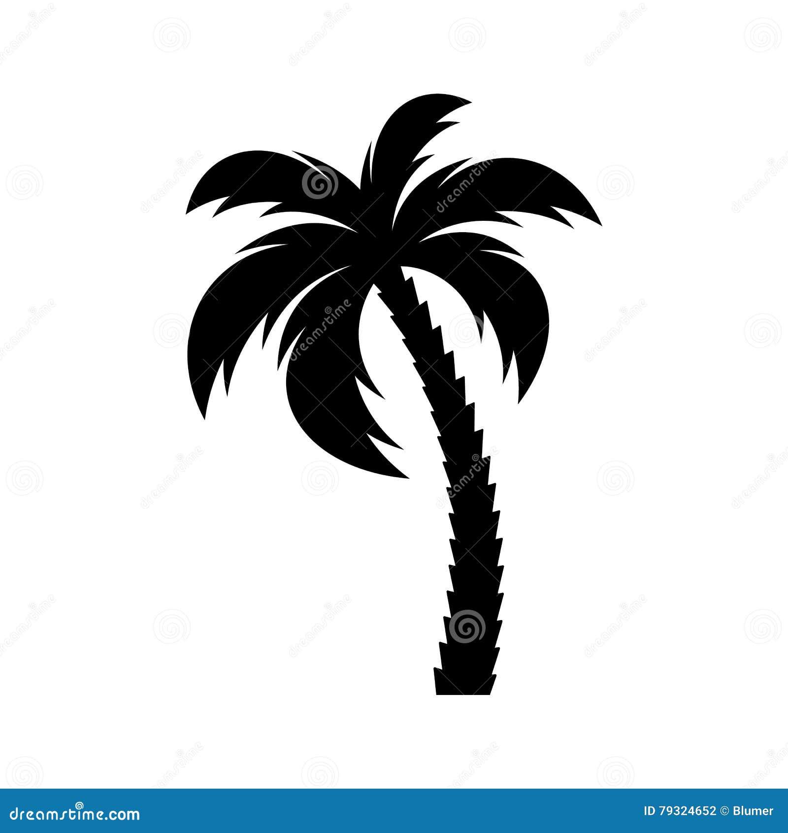 Zwart enig palmpictogram