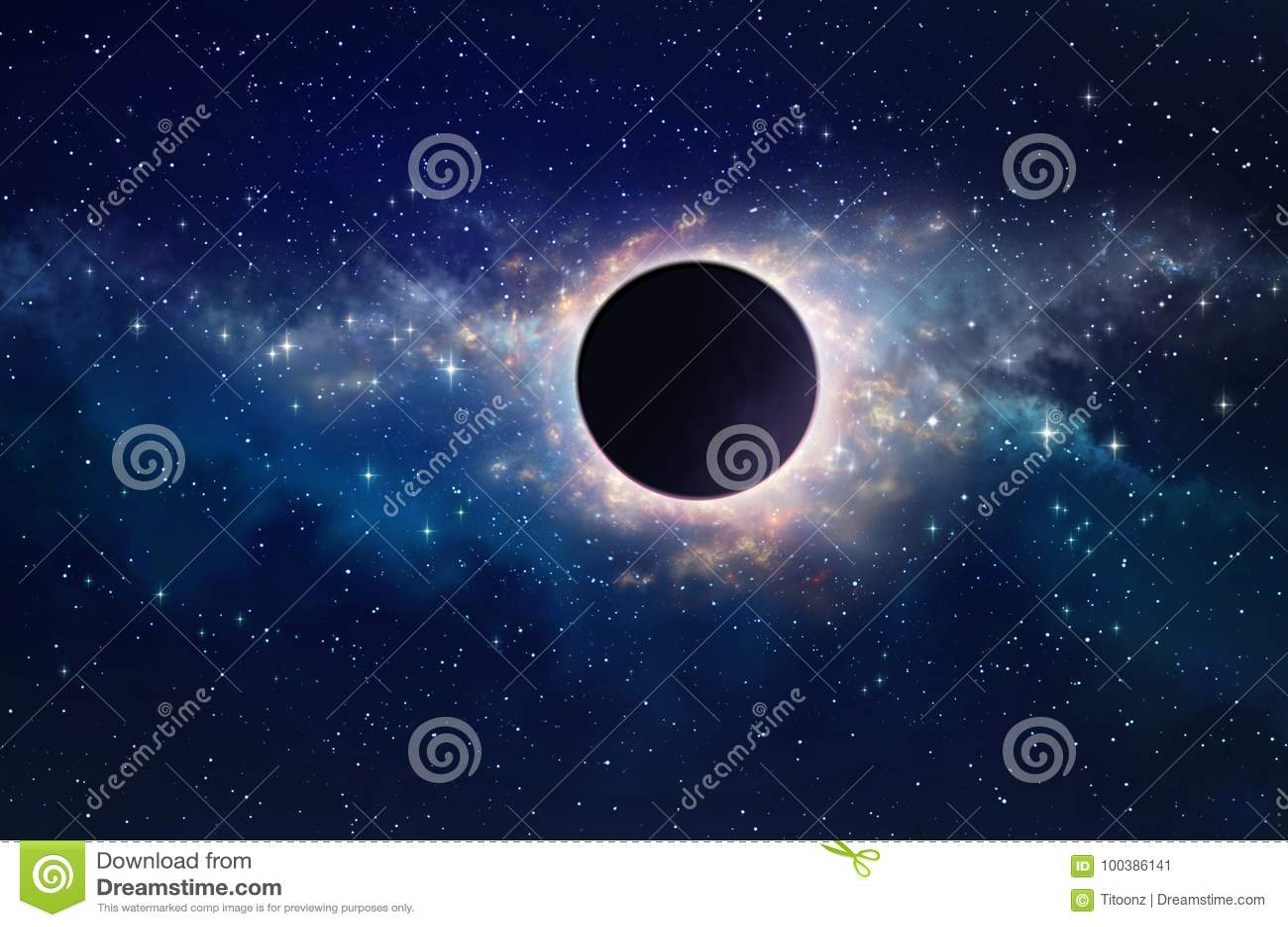Zwart gat in ruimte