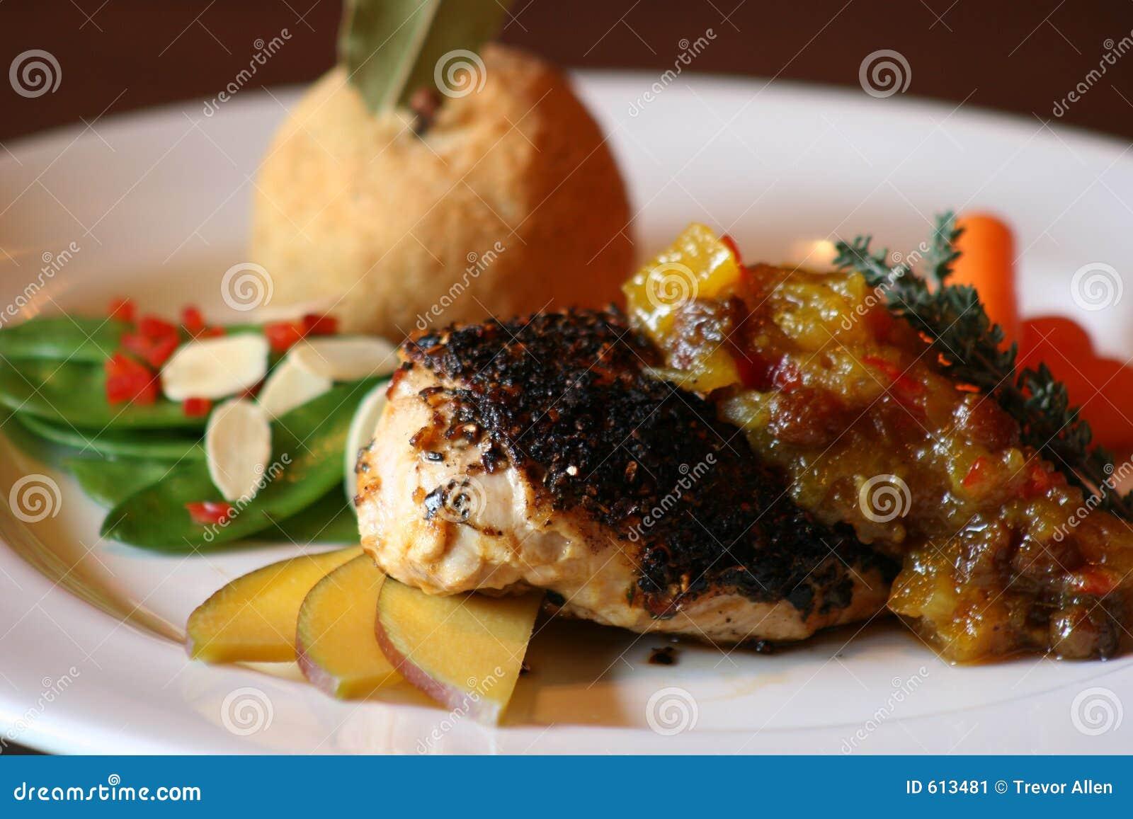 Zwart gemaakte Kip