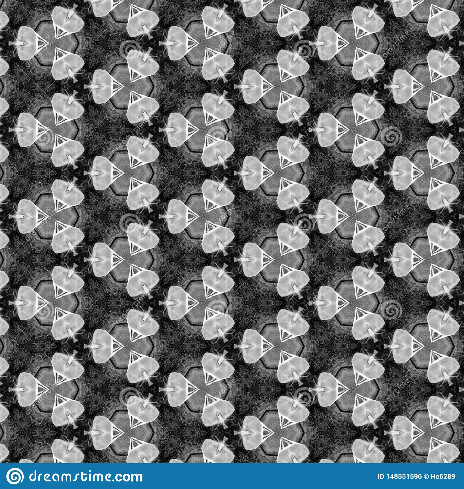 Zwart Gray And White Geometirc Abstract-Patroon
