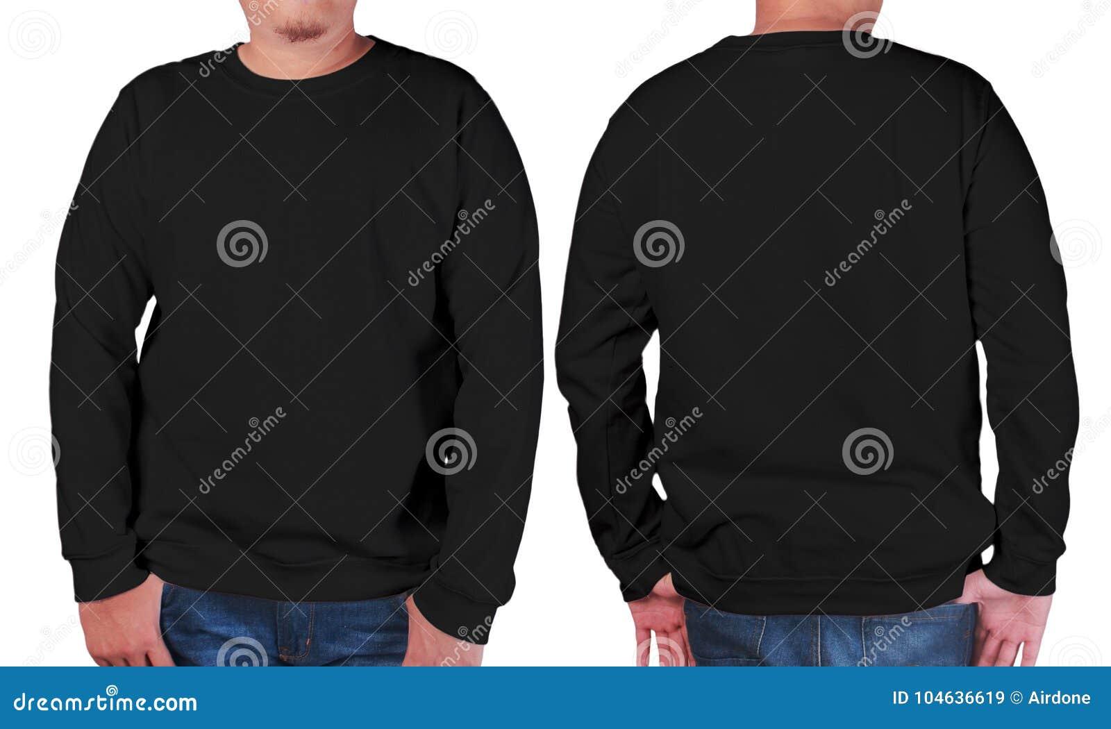 Download Zwart Het Modelmalplaatje Van Het Sweater Lang Sleeved Overhemd Stock Afbeelding - Afbeelding bestaande uit commercieel, presentatie: 104636619