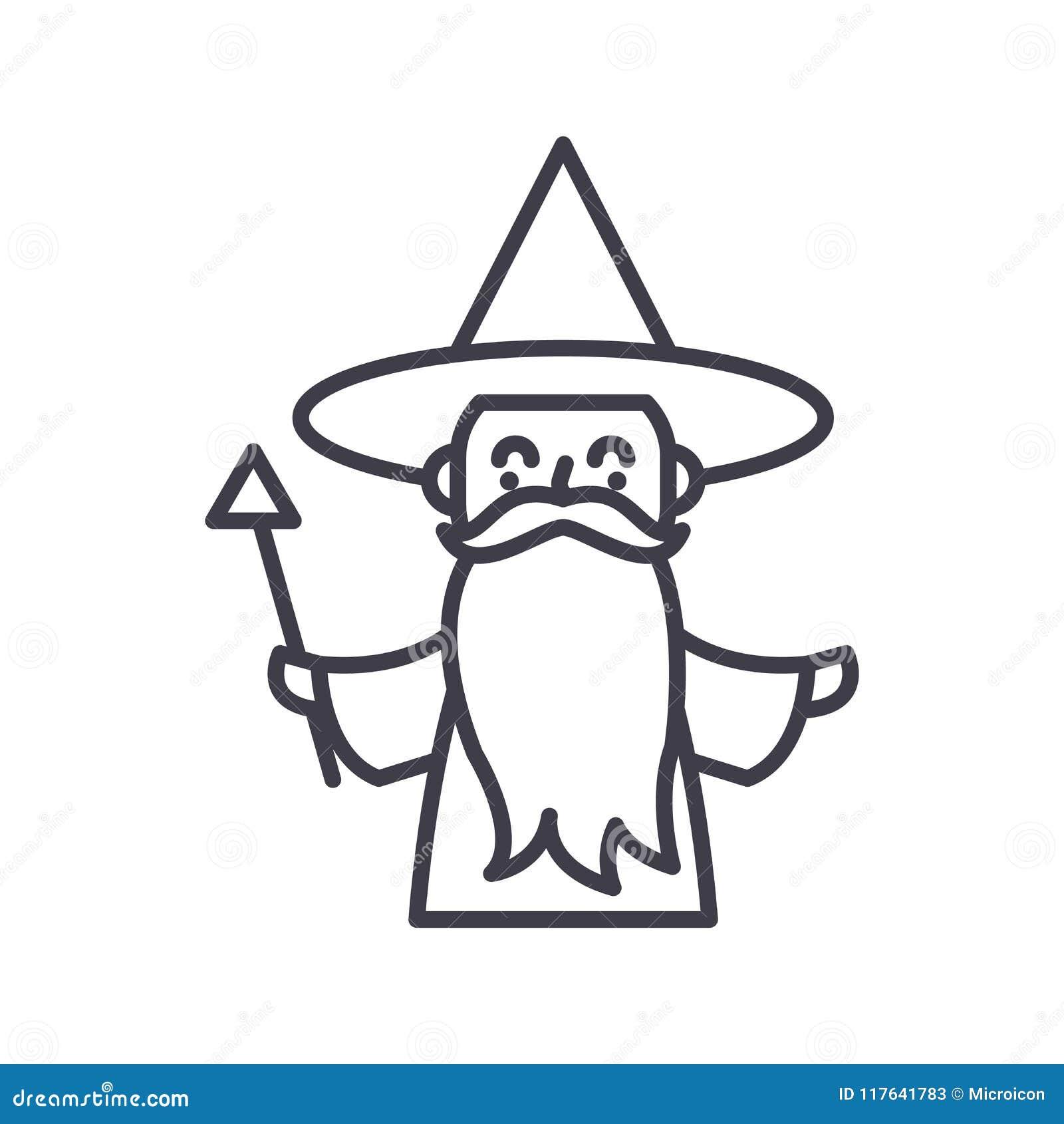 Zwart het pictogramconcept van sprookjekarakters Het vlakke vectorsymbool van sprookjekarakters, teken, illustratie