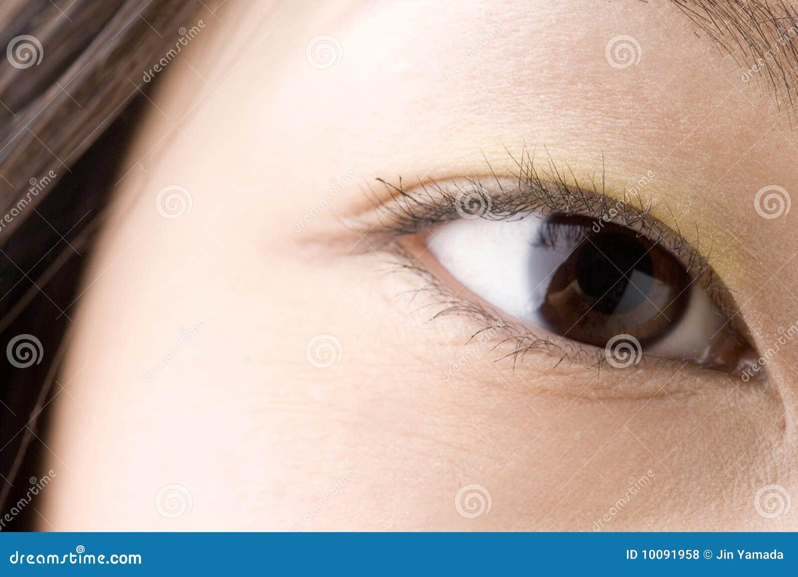 Zwart oog van Japanner
