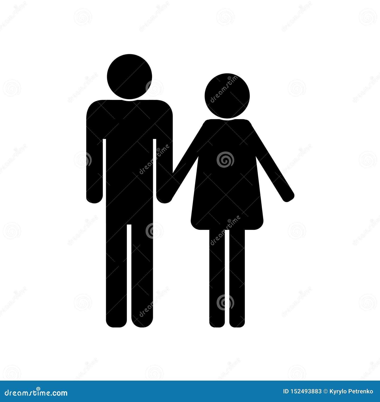 Zwart pictogram van een familie witte vector als achtergrond