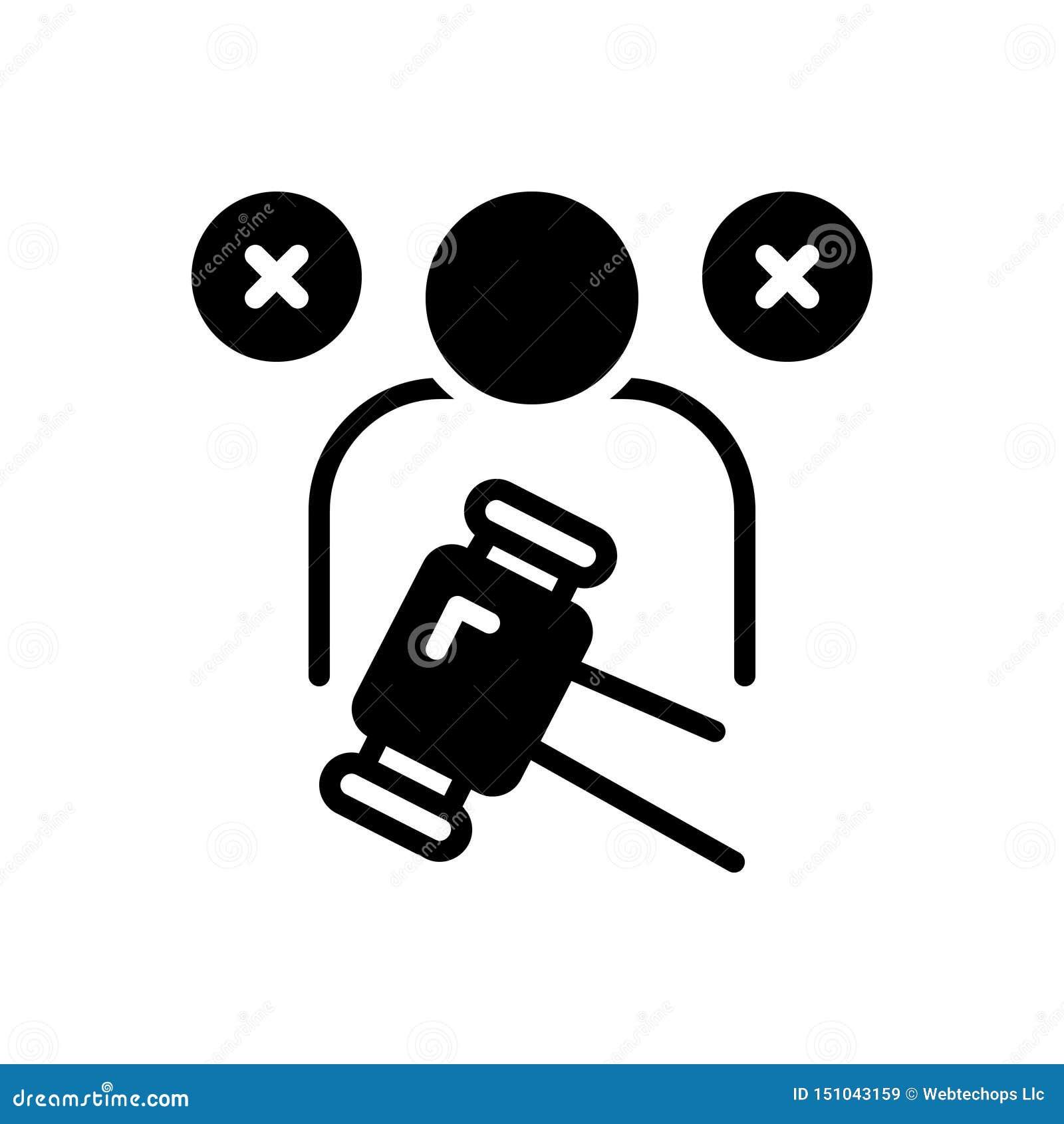 Zwart stevig pictogram voor Beschuldiging, schuld en tekort