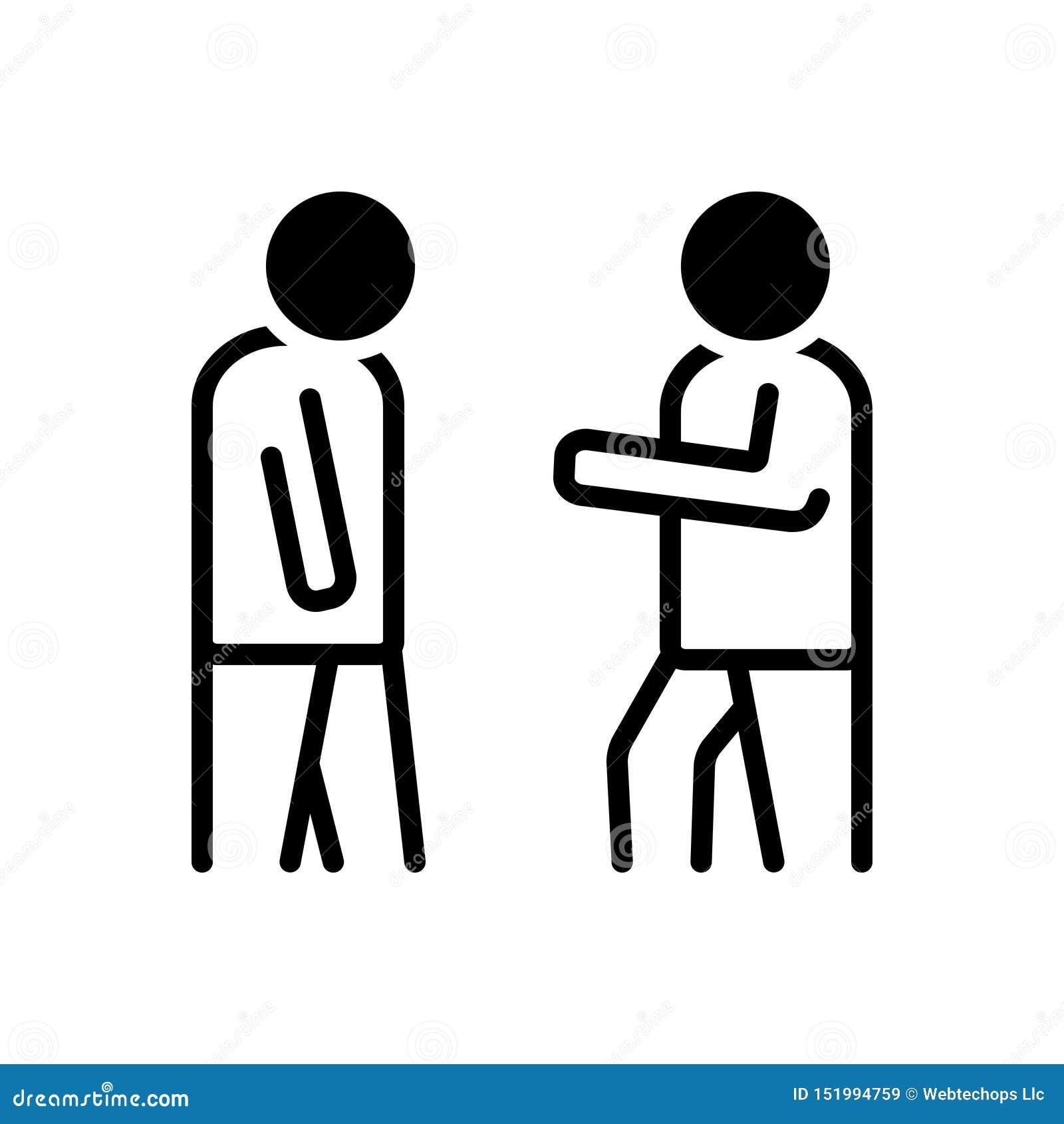 Zwart stevig pictogram voor Obey, gehoorzaamheid en aanhankelijkheid