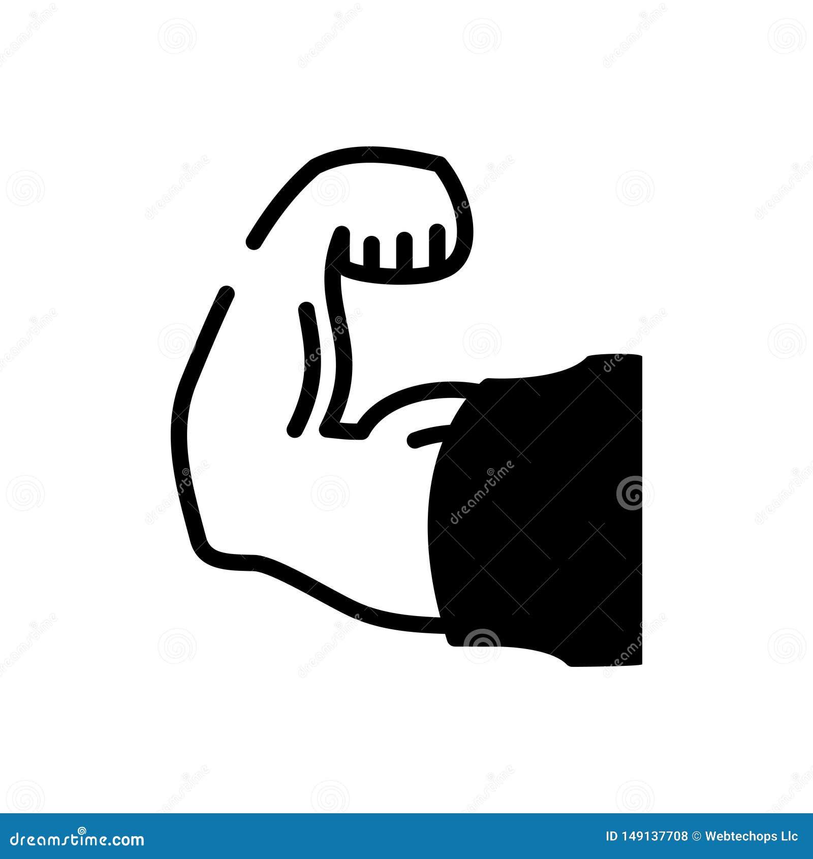 Zwart stevig pictogram voor Sterk, stevig en robuust