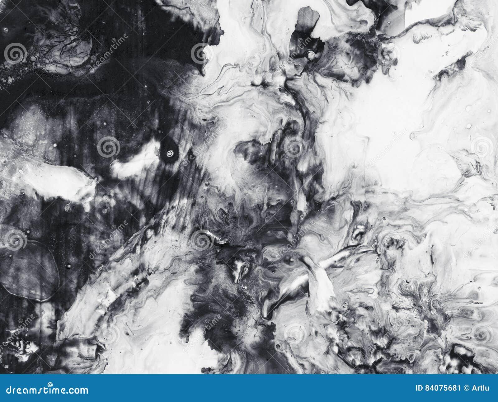 Verwonderend Zwart-wit Abstracte Kunstachtergrond, Textuur Het Schilderen Stock RJ-98