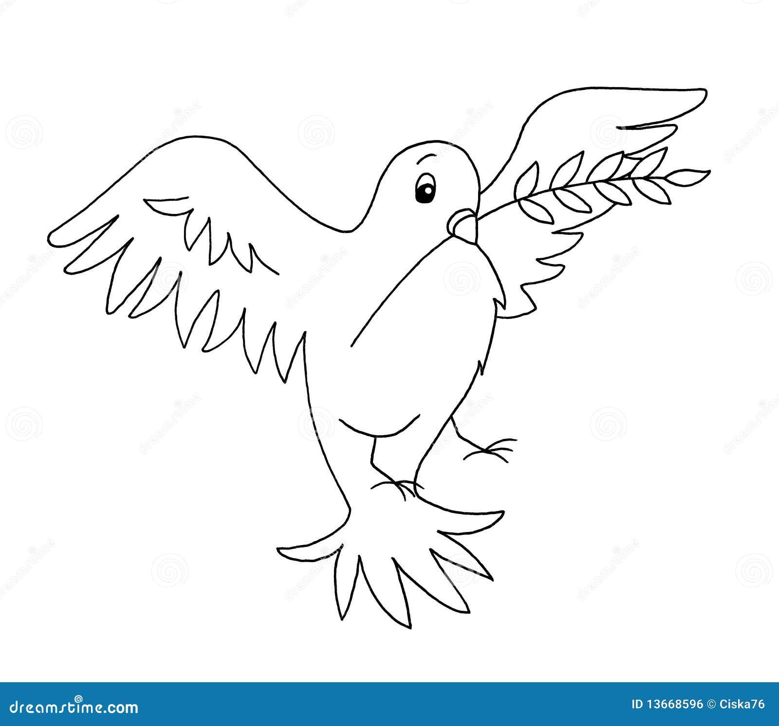Zwart-wit - duif